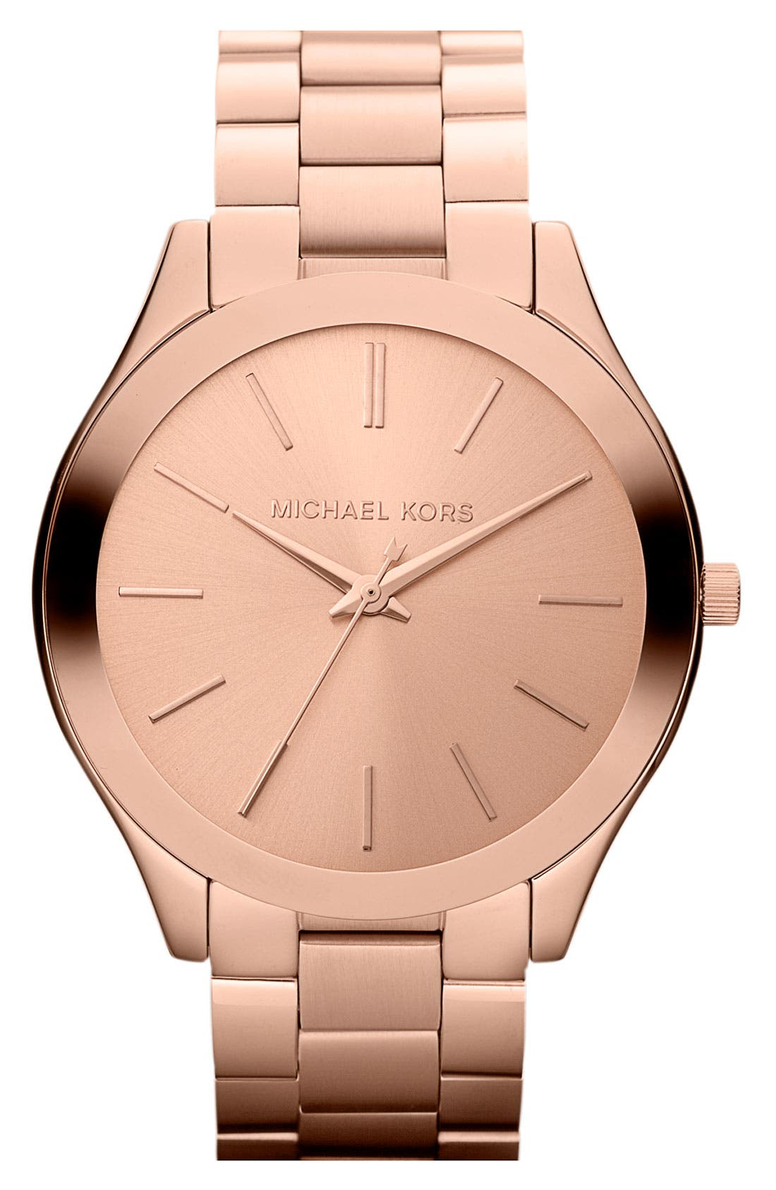 Main Image - Michael Kors 'Slim Runway' Bracelet Watch, 42mm