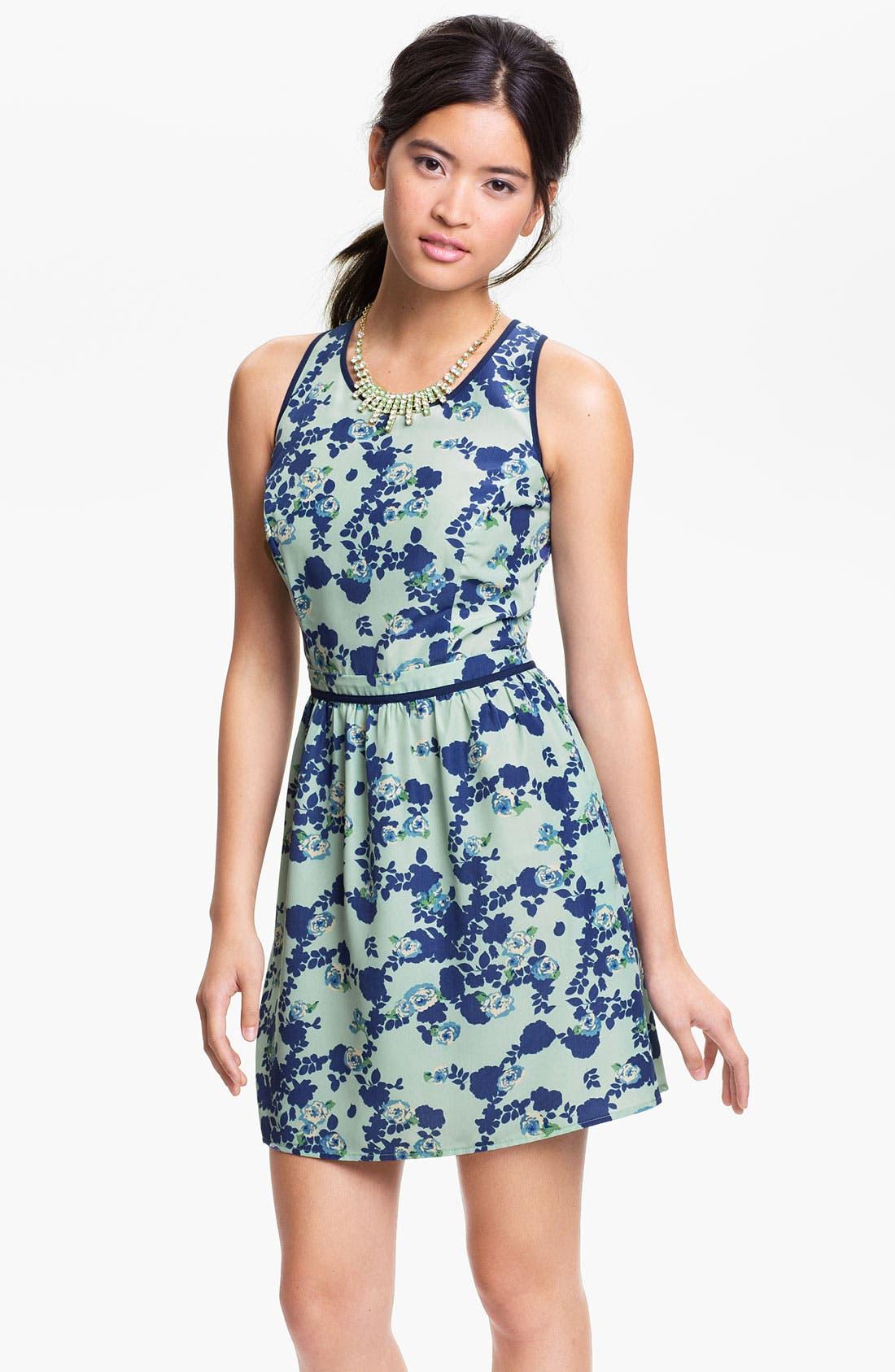 Alternate Image 1 Selected - Mimi Chica Print Dress (Juniors)
