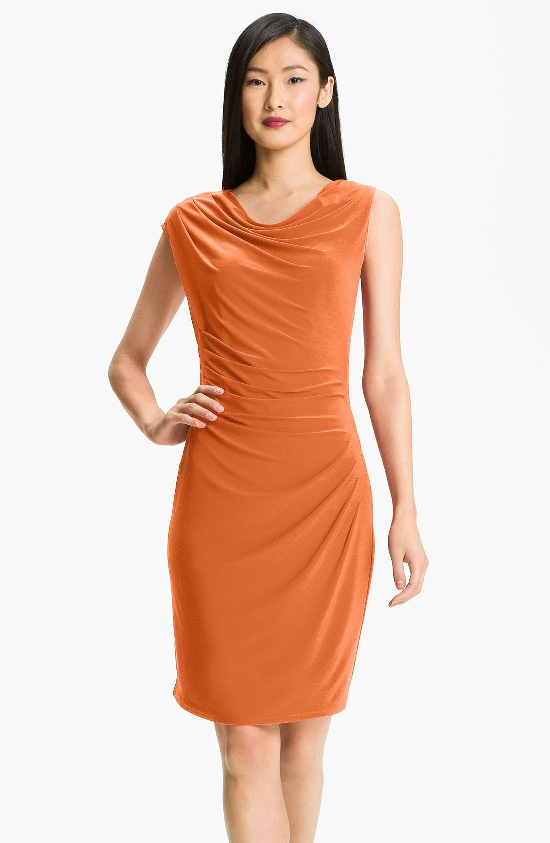 Alternate Image 1 Selected - Adrianna Papell Asymmetrical Draped Jersey Dress