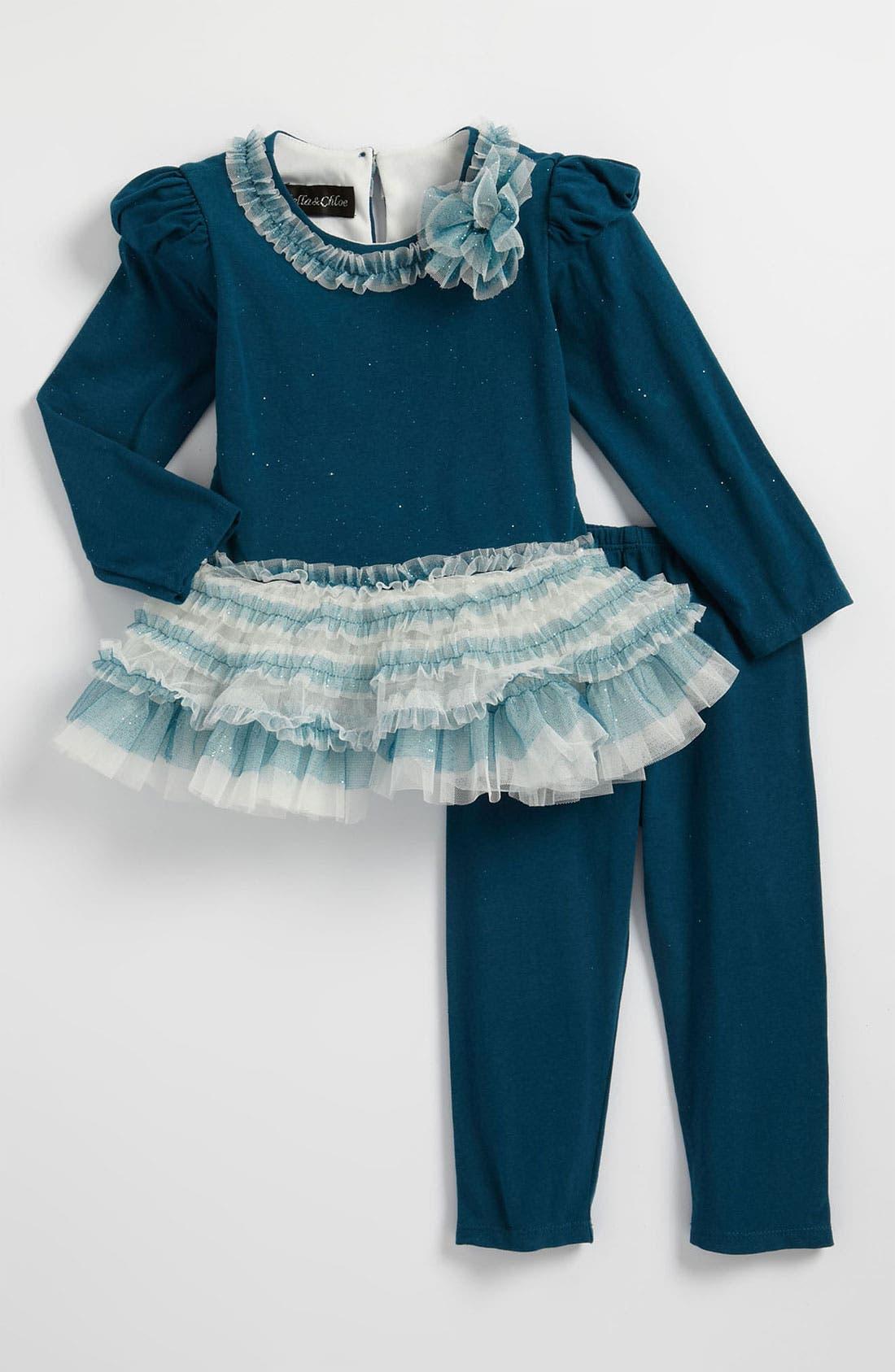 Main Image - Isobella & Chloe Tutu Dress & Leggings (Toddler)