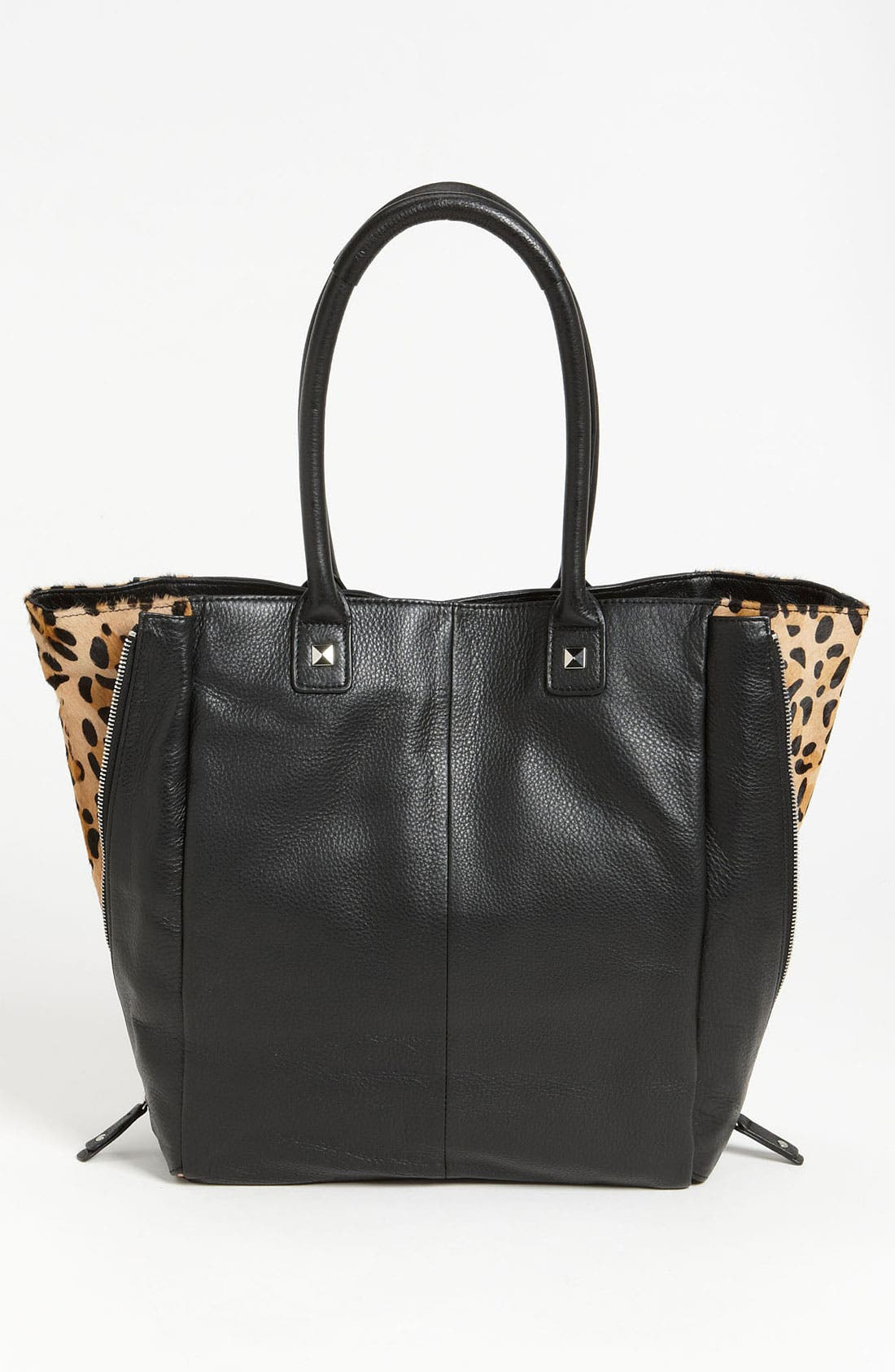 Alternate Image 4  - Halogen® Calf Hair Zip Out Leather Tote