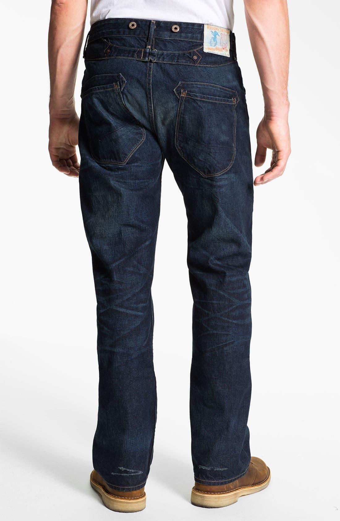 Main Image - Rising Sun 'Blacksmith' Relaxed Straight Leg Jeans (Indigo Crossroad)