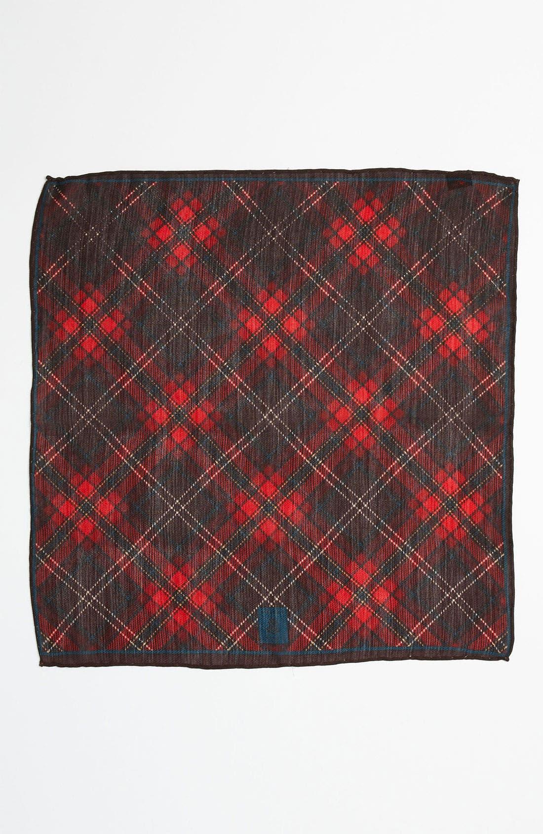 Alternate Image 2  - Robert Talbott Silk & Wool Pocket Square