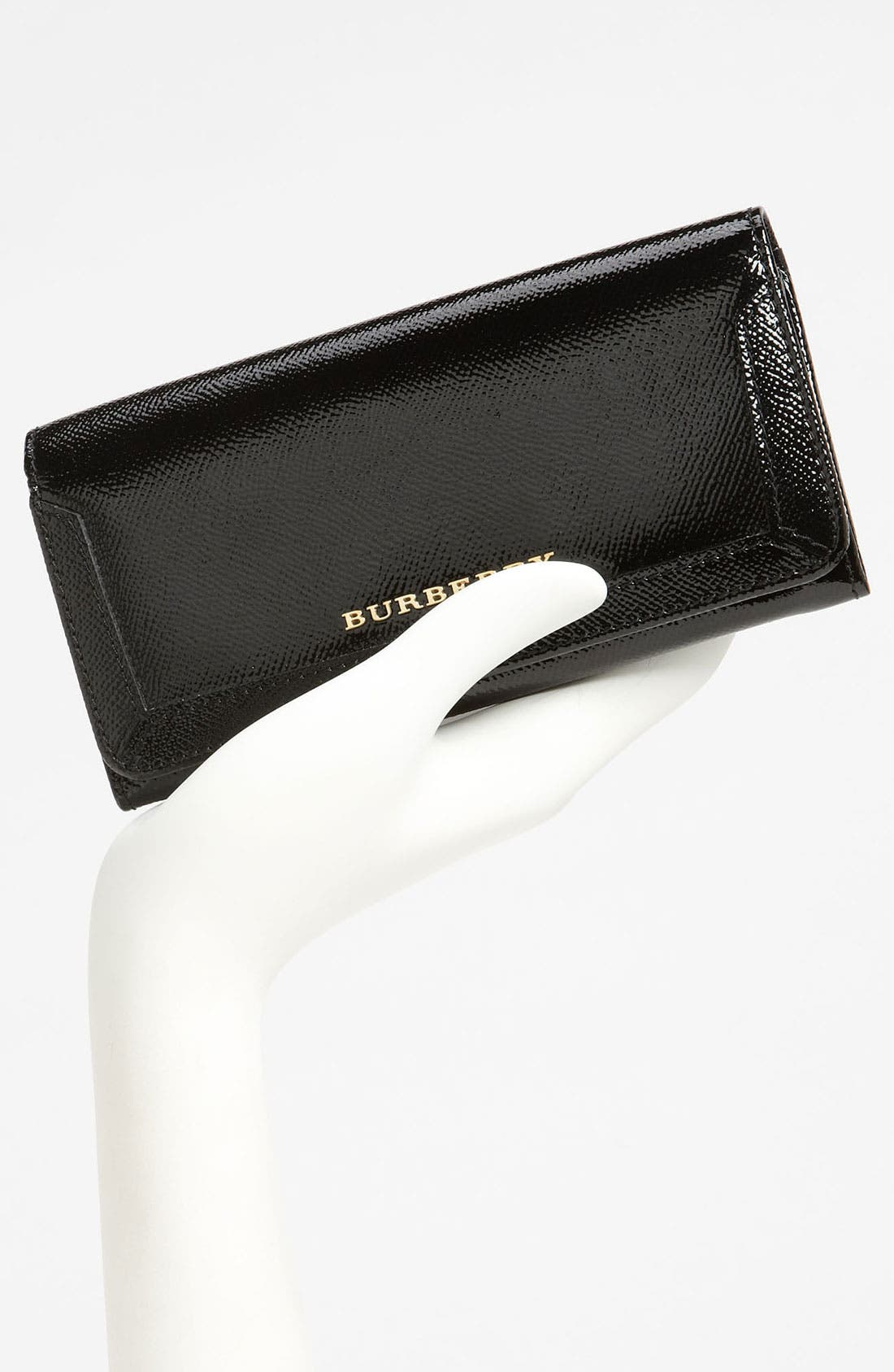 Alternate Image 4  - Burberry Patent Leather Wallet