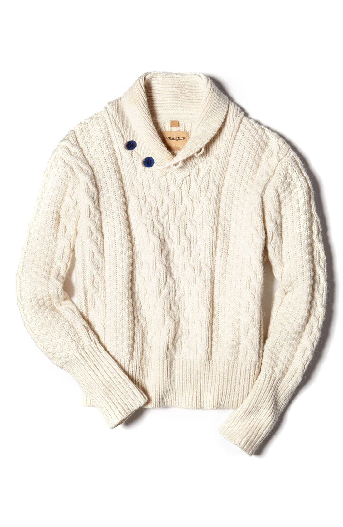 Alternate Image 3  - Levi's® Made & Crafted™ Cable Knit Shawl Collar Sweater
