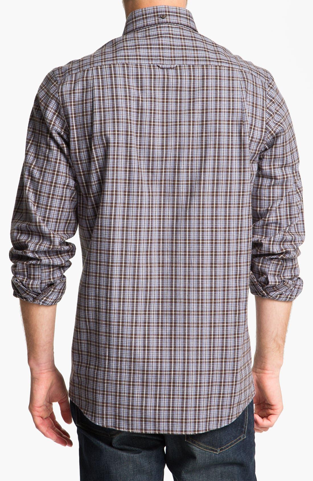 Alternate Image 2  - Nordstrom Regular Fit Cotton Flannel Shirt