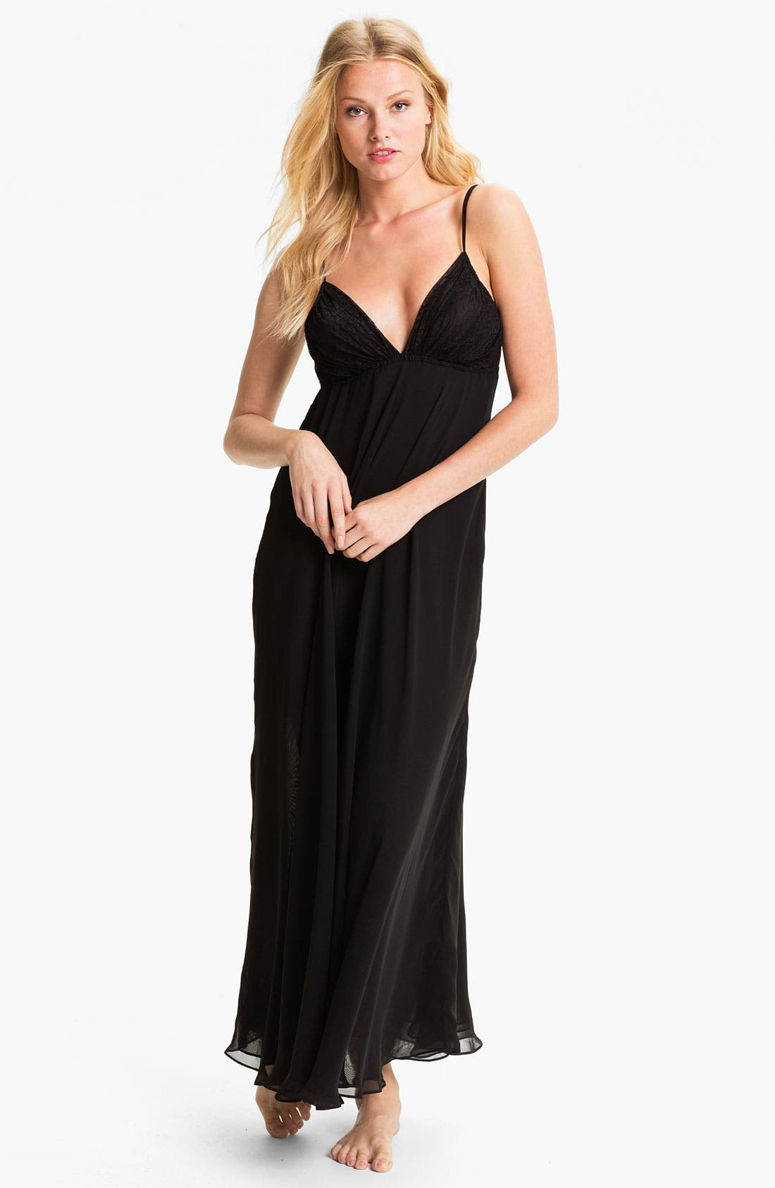 Alternate Image 1 Selected - Donna Karan Silky Chiffon Nightgown