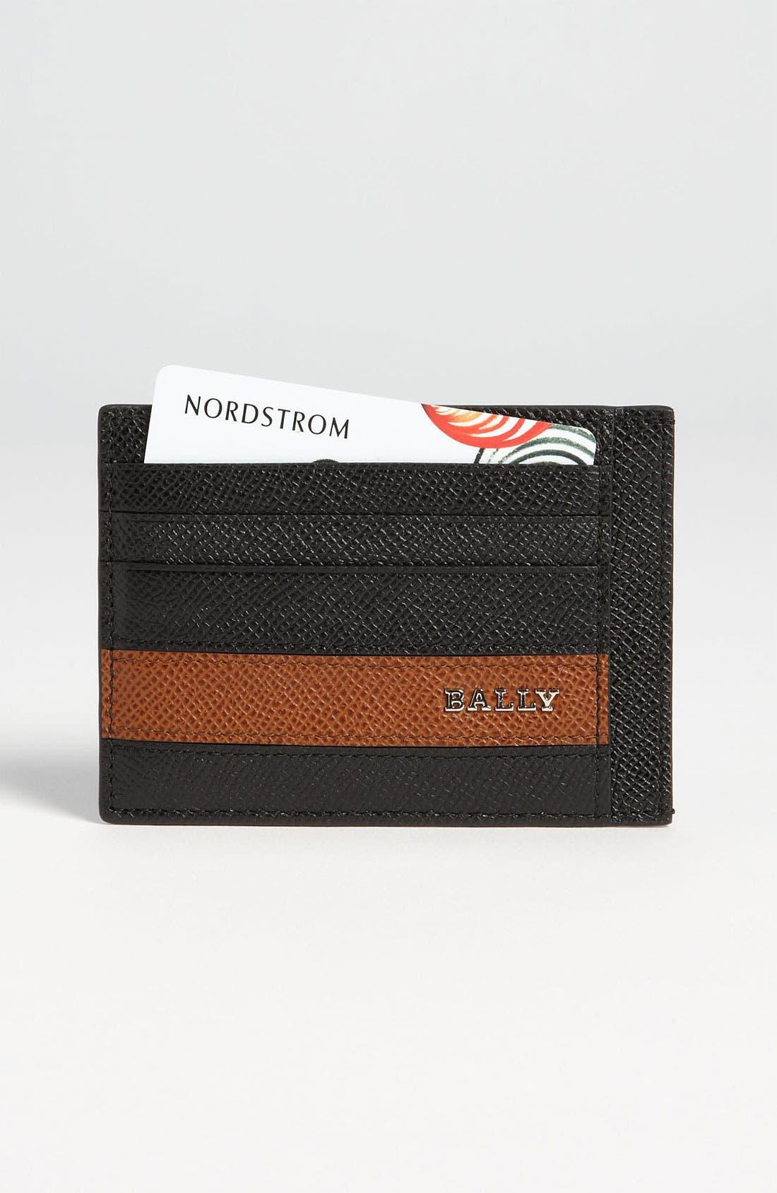 Alternate Image 1 Selected - Bally Calfskin Card Case