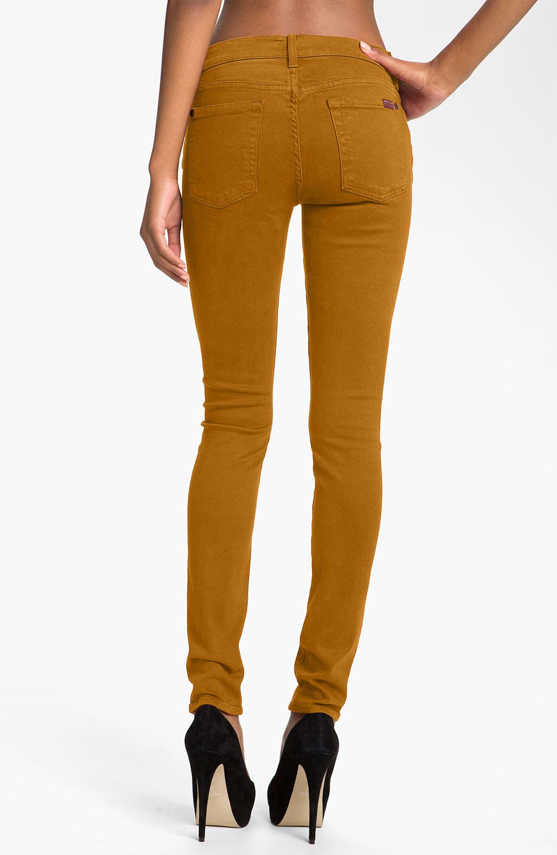 Alternate Image 2  - 7 For All Mankind® 'Slim Illusion' Overdyed Skinny Stretch Jeans (Ginger)