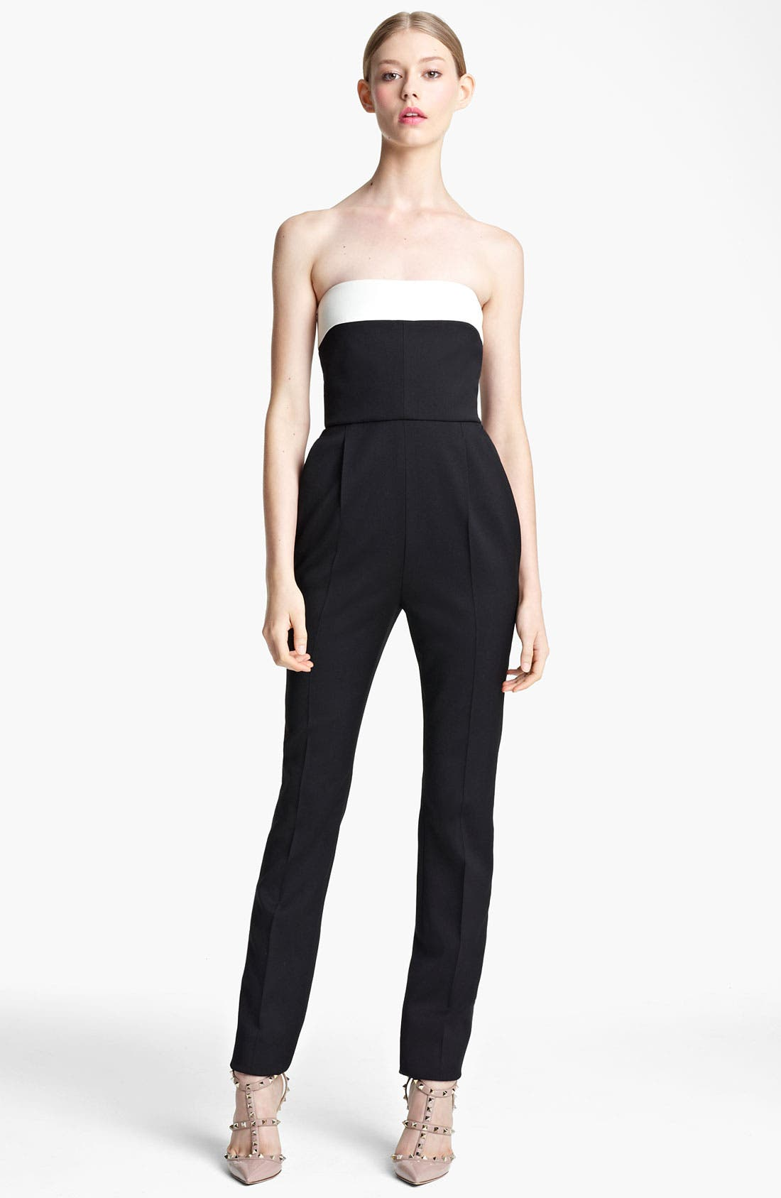 Alternate Image 1 Selected - Valentino Strapless Jumpsuit