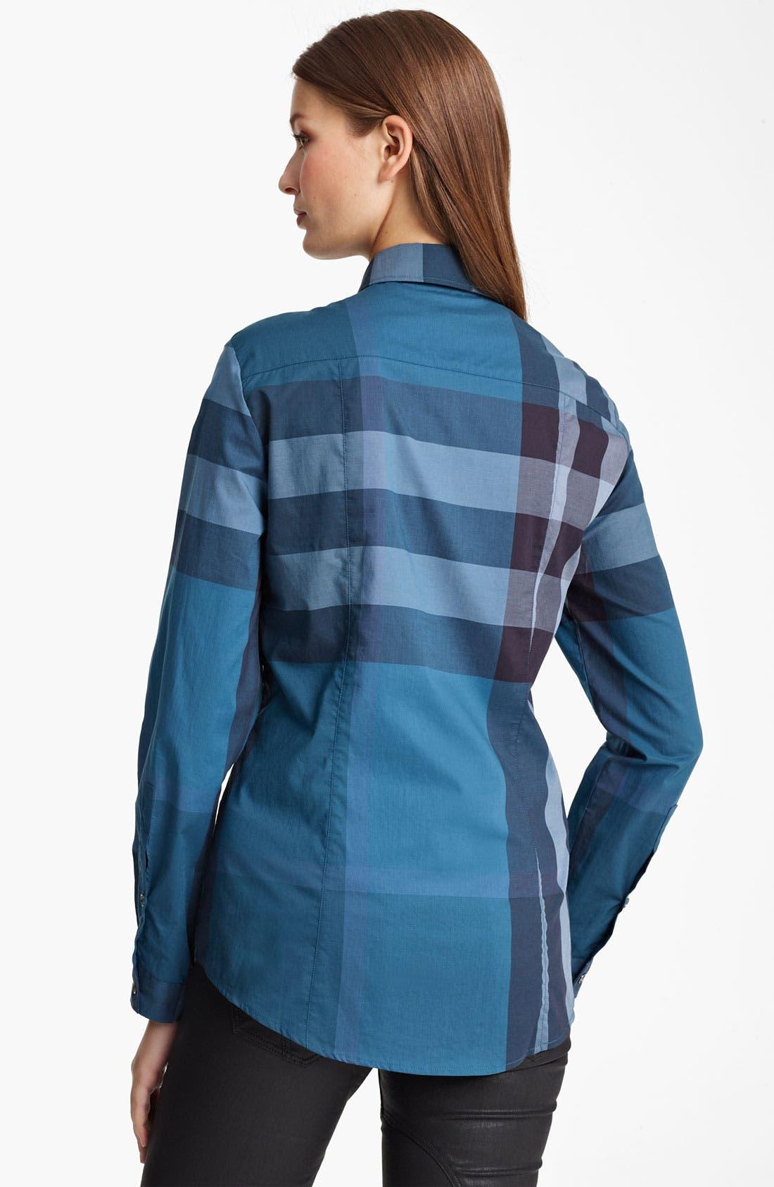 Alternate Image 2  - Burberry Brit Check Print Shirt