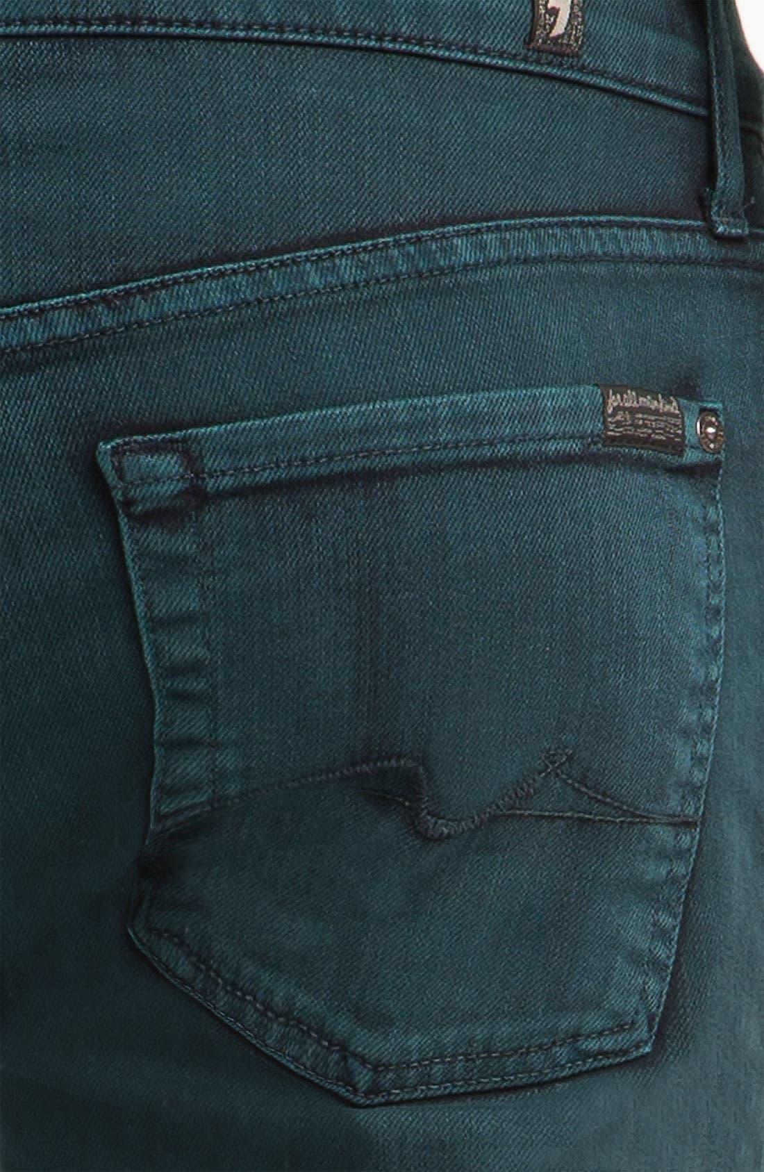 Alternate Image 4  - 7 For All Mankind® 'Slimmy' Slim Straight Leg Jeans (Dark Ivy)