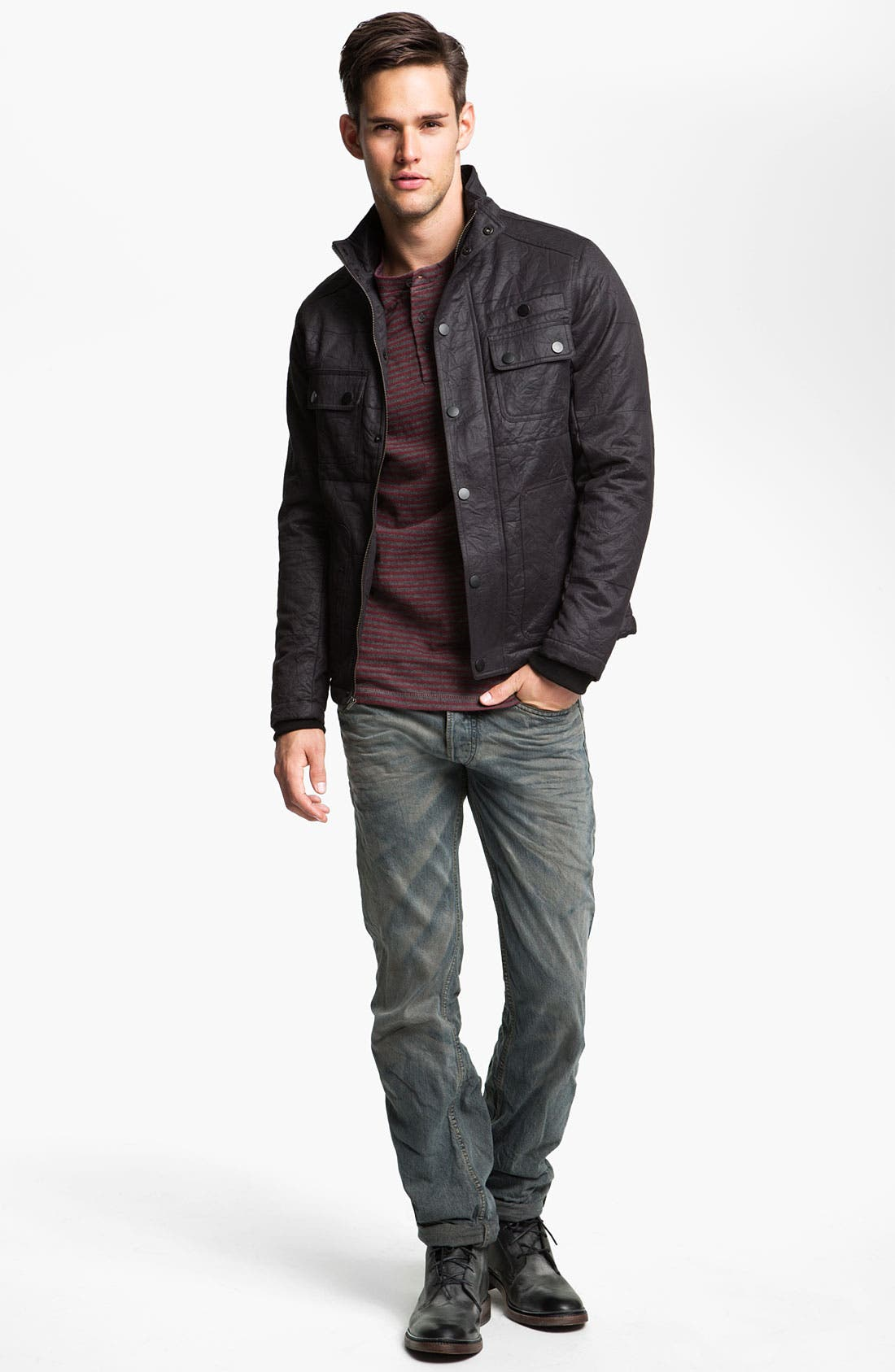 Alternate Image 5  - DIESEL® 'Viker' Straight Leg Jeans (0807C)