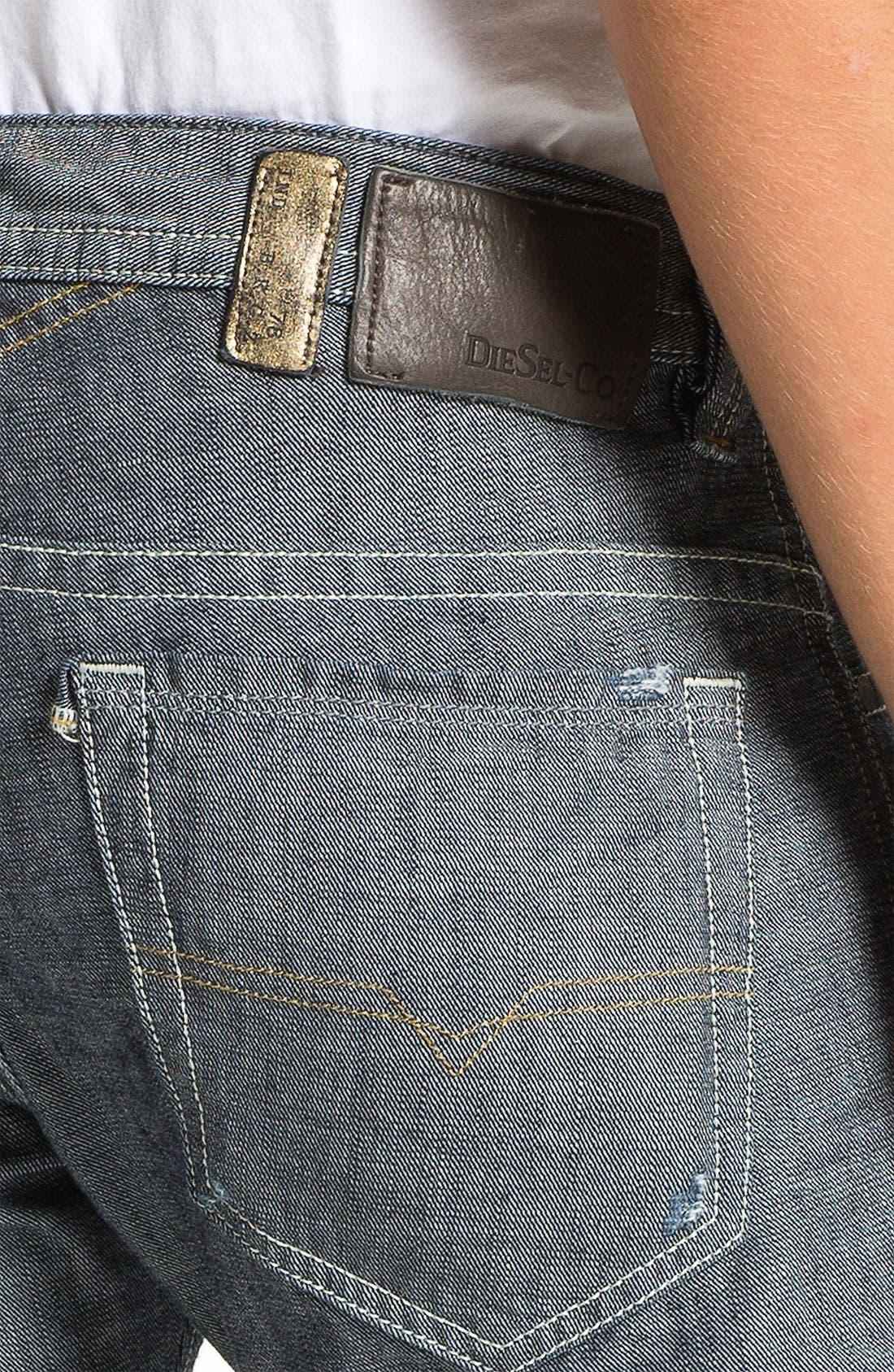 Alternate Image 4  - DIESEL® 'Thavar' Slim Straight Leg Jeans (0809D) (Online Exclusive)