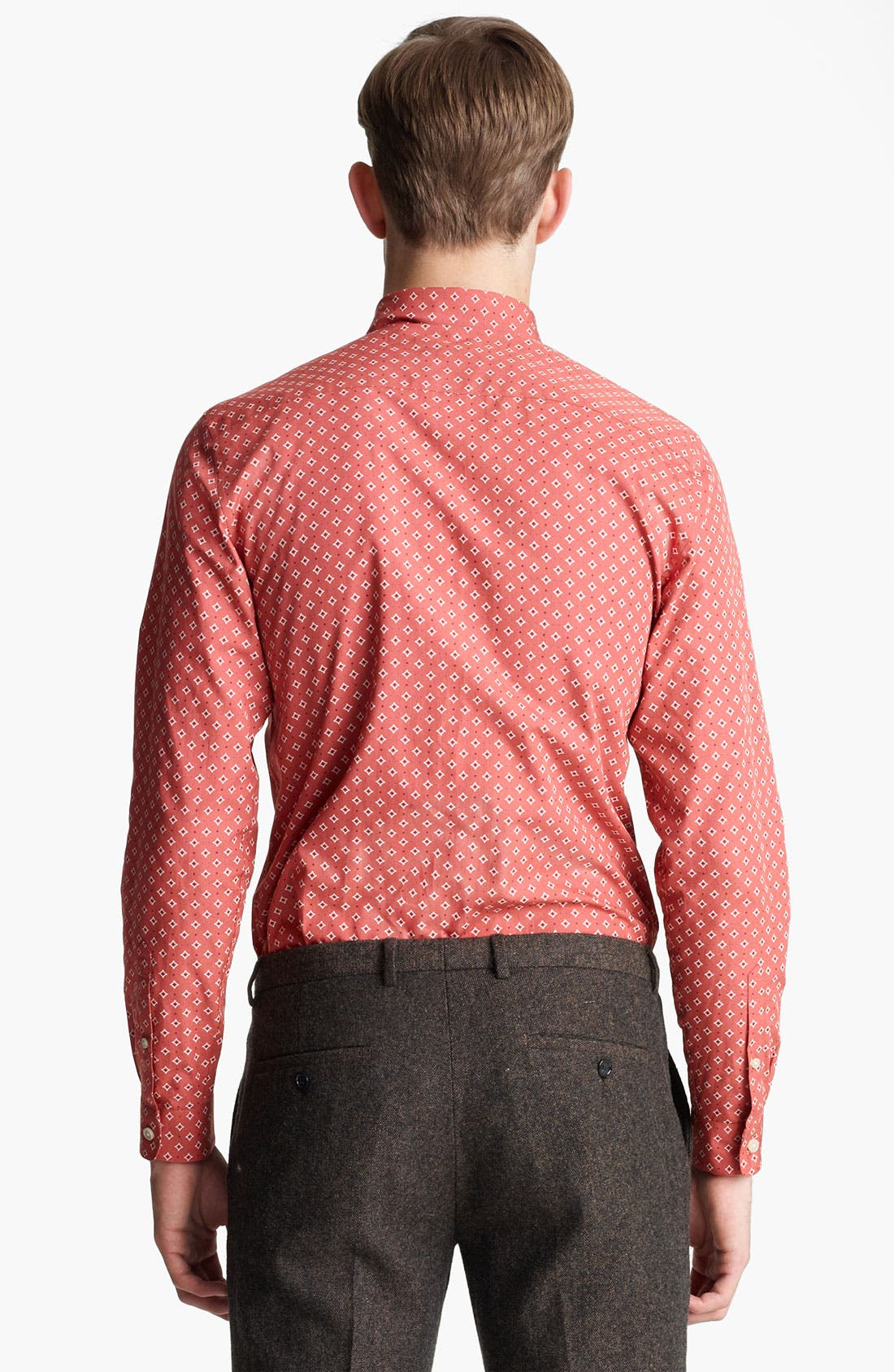 Alternate Image 2  - Topman 'Smart' Extra Trim Diamond Print Dress Shirt