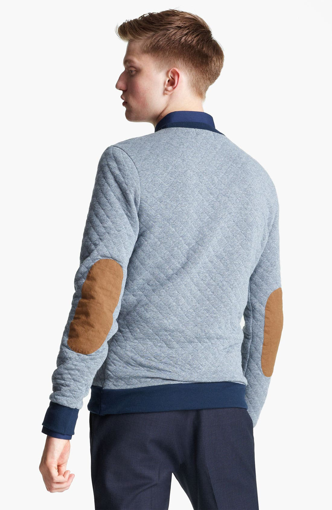 Alternate Image 2  - Topman Quilted Crewneck Sweatshirt
