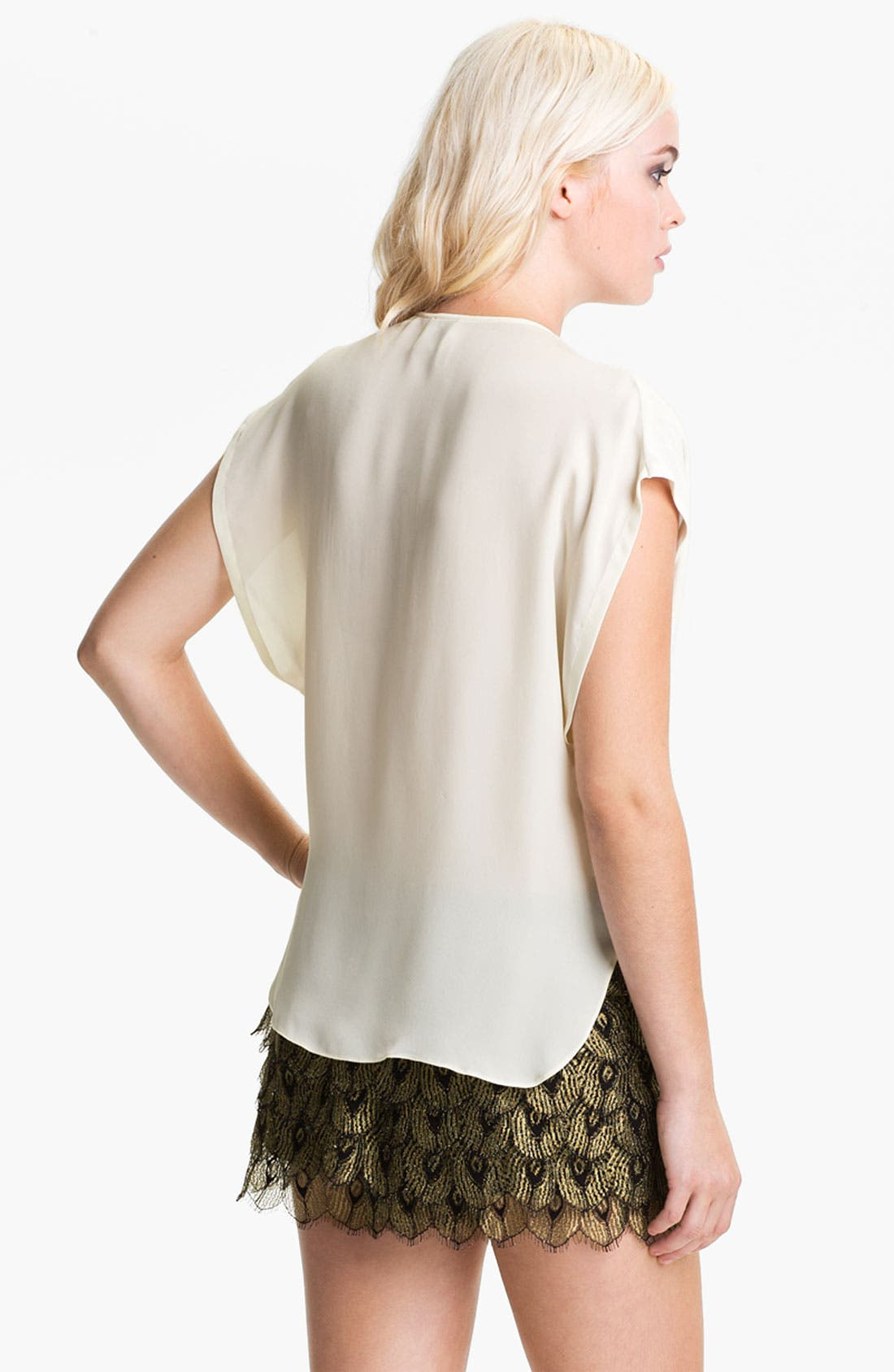 Alternate Image 2  - Haute Hippie Draped Silk Top