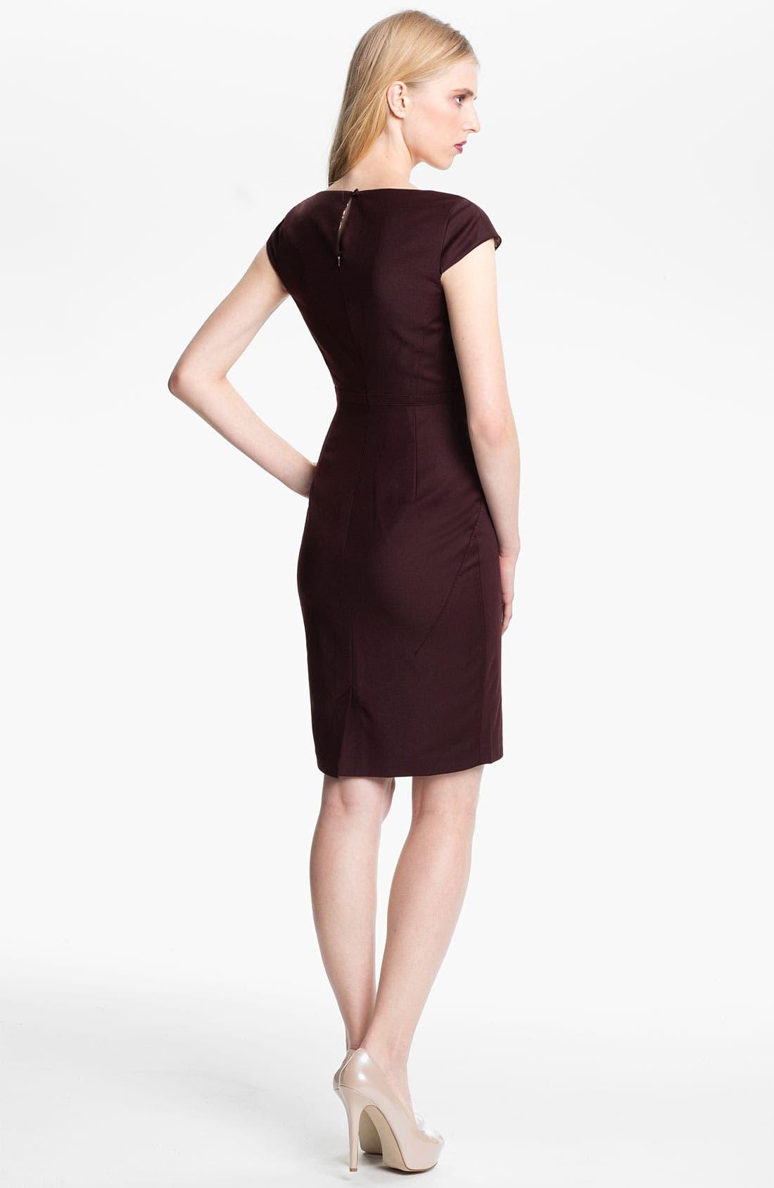 Alternate Image 2  - Ted Baker London 'Priad' Wool Blend Sheath Dress
