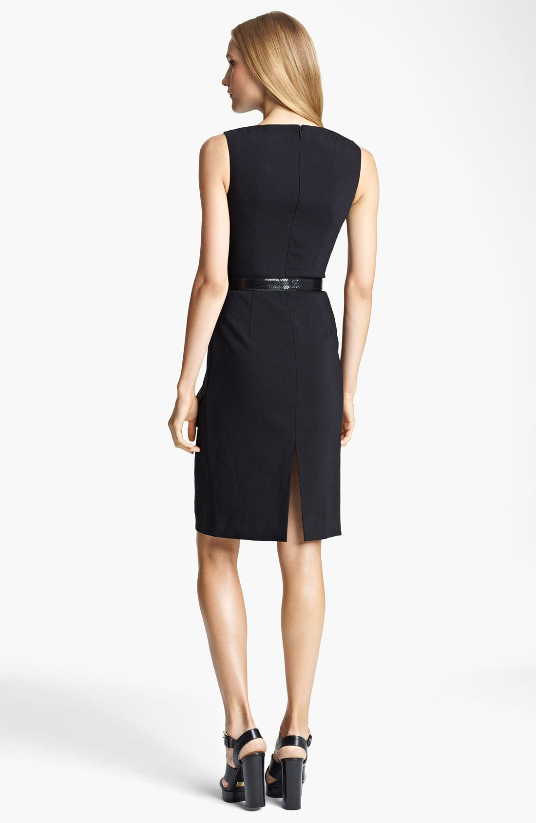 Alternate Image 2  - Michael Kors Lightweight Crepe Sheath Dress