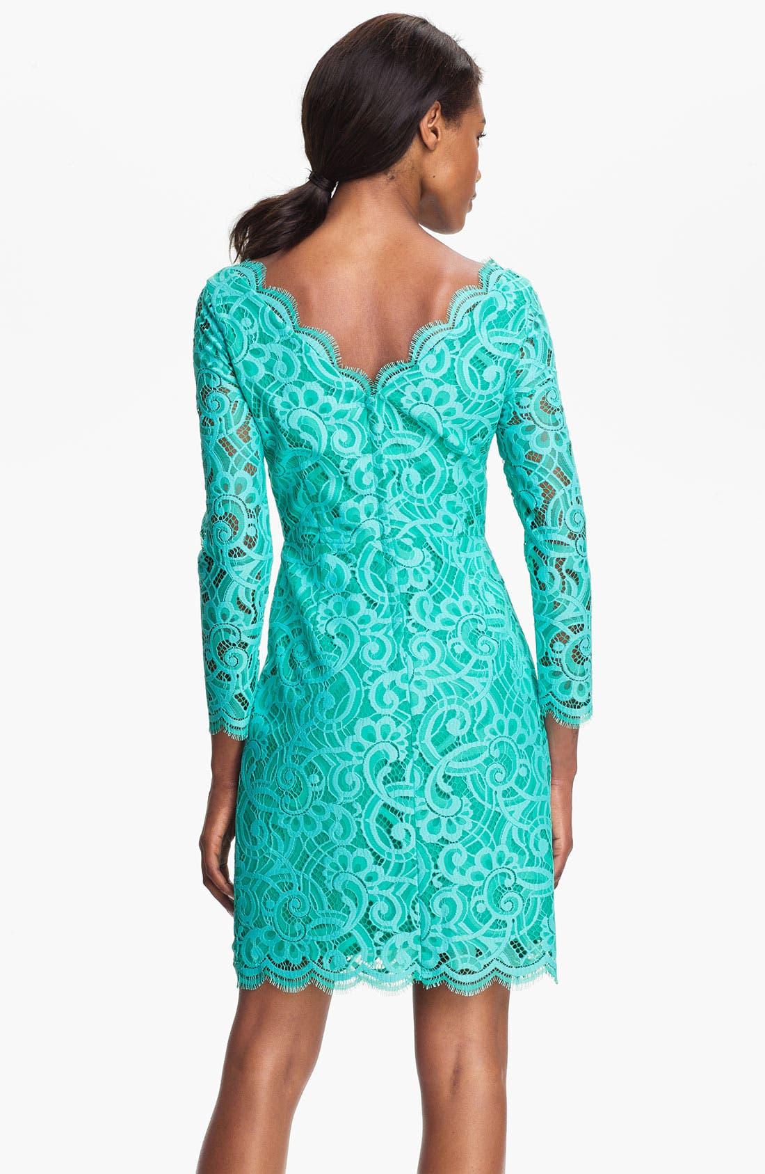 Alternate Image 2  - Lilly Pulitzer® 'Helene' Double V-Neck Lace Dress
