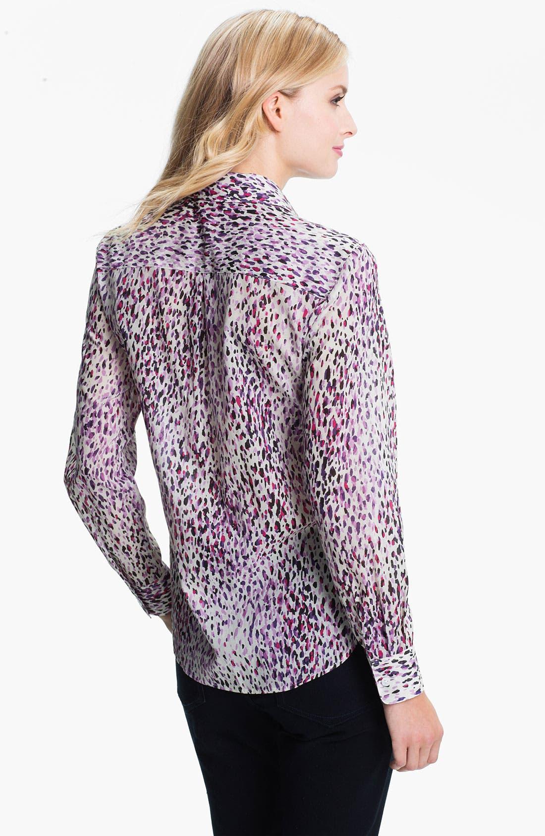 Alternate Image 2  - Foxcroft 'Modern' Animal Print Shirt