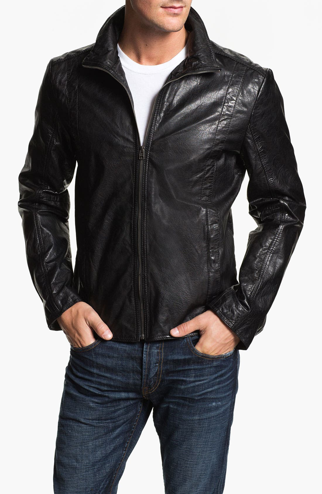 Alternate Image 1 Selected - 7 Diamonds Buffalo Leather Jacket