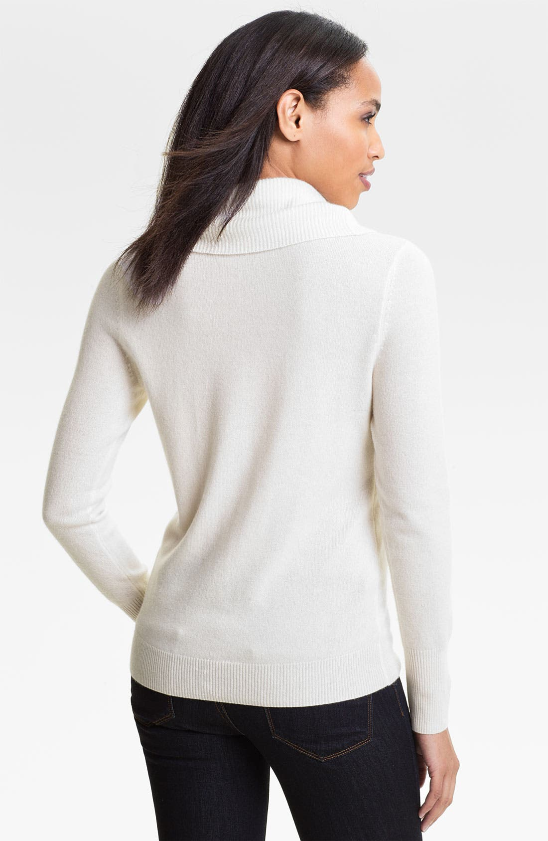 Alternate Image 2  - Halogen® Cowl Neck Cashmere Sweater