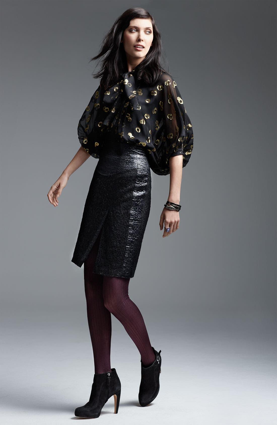 Main Image - Diane von Furstenberg Blouse & Nanette Lepore Skirt