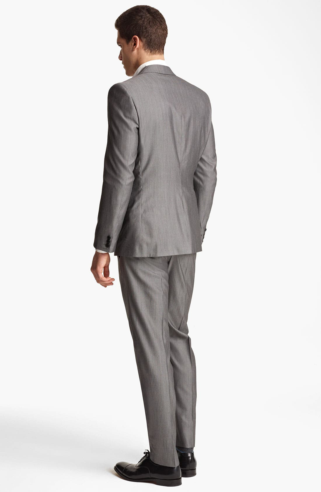 Alternate Image 3  - Versace Trim Fit Stripe Suit