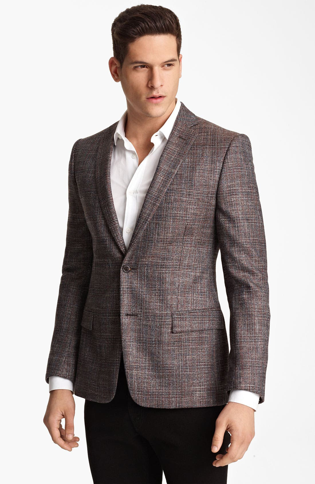 Alternate Image 1 Selected - Versace Trim Fit Check Sportcoat