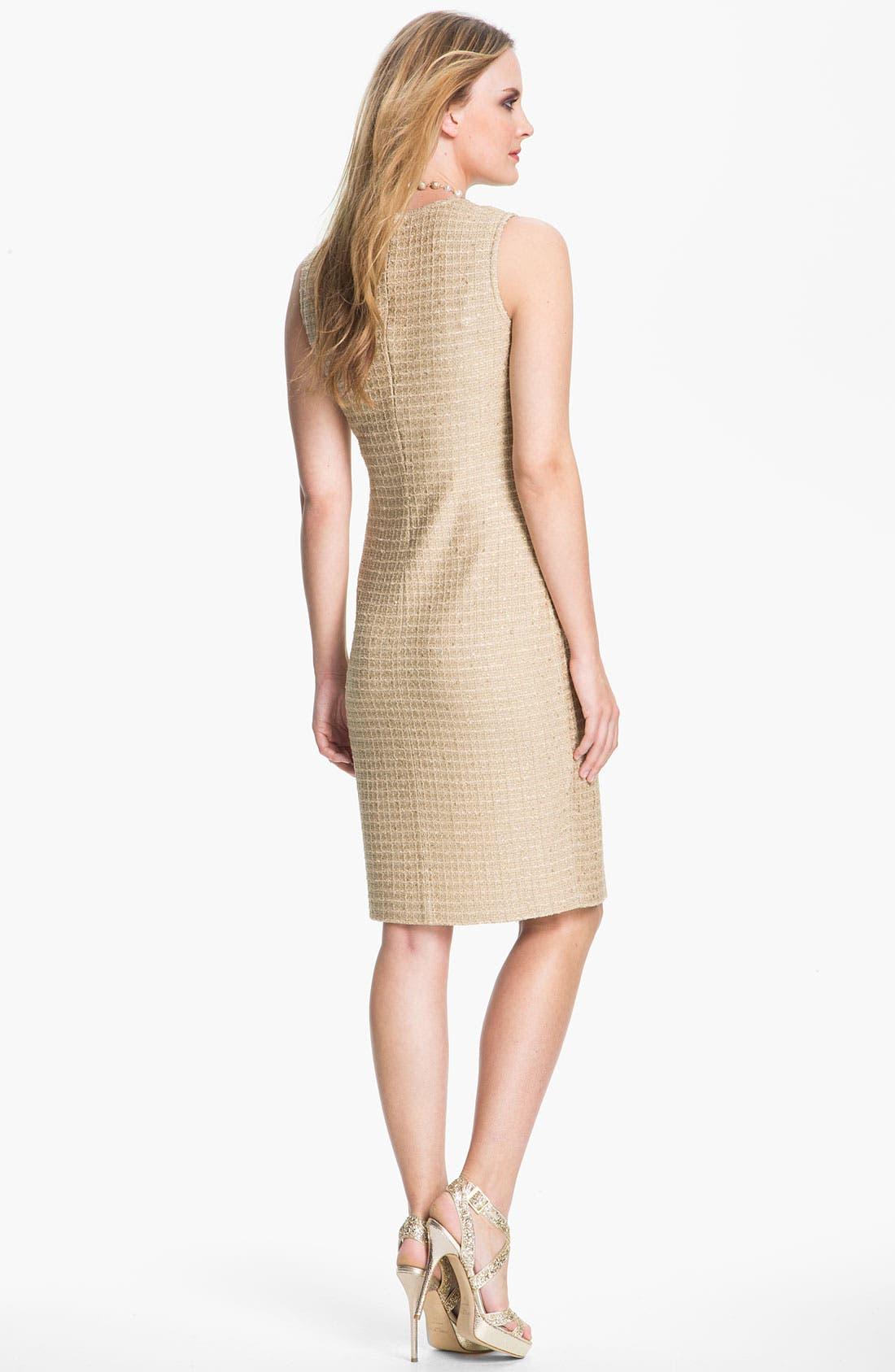 Alternate Image 2  - St. John Collection Sequin Metallic Knit Dress