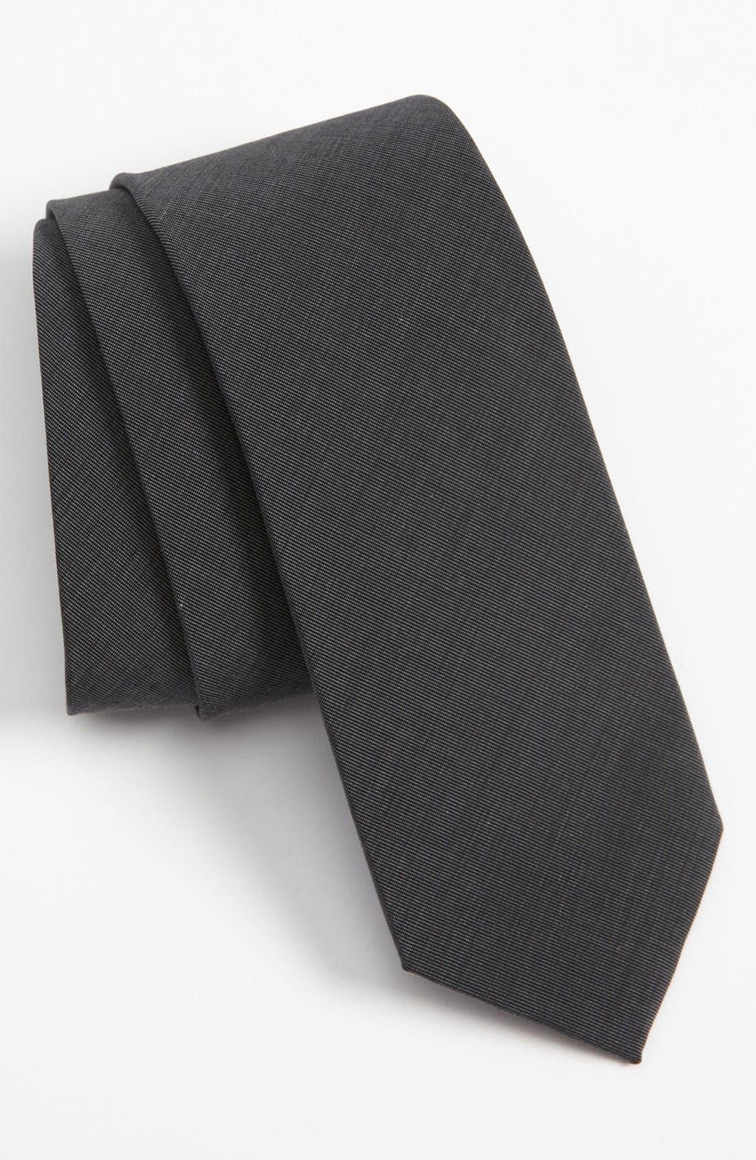 Main Image - The Tie Bar Solid Cotton Tie
