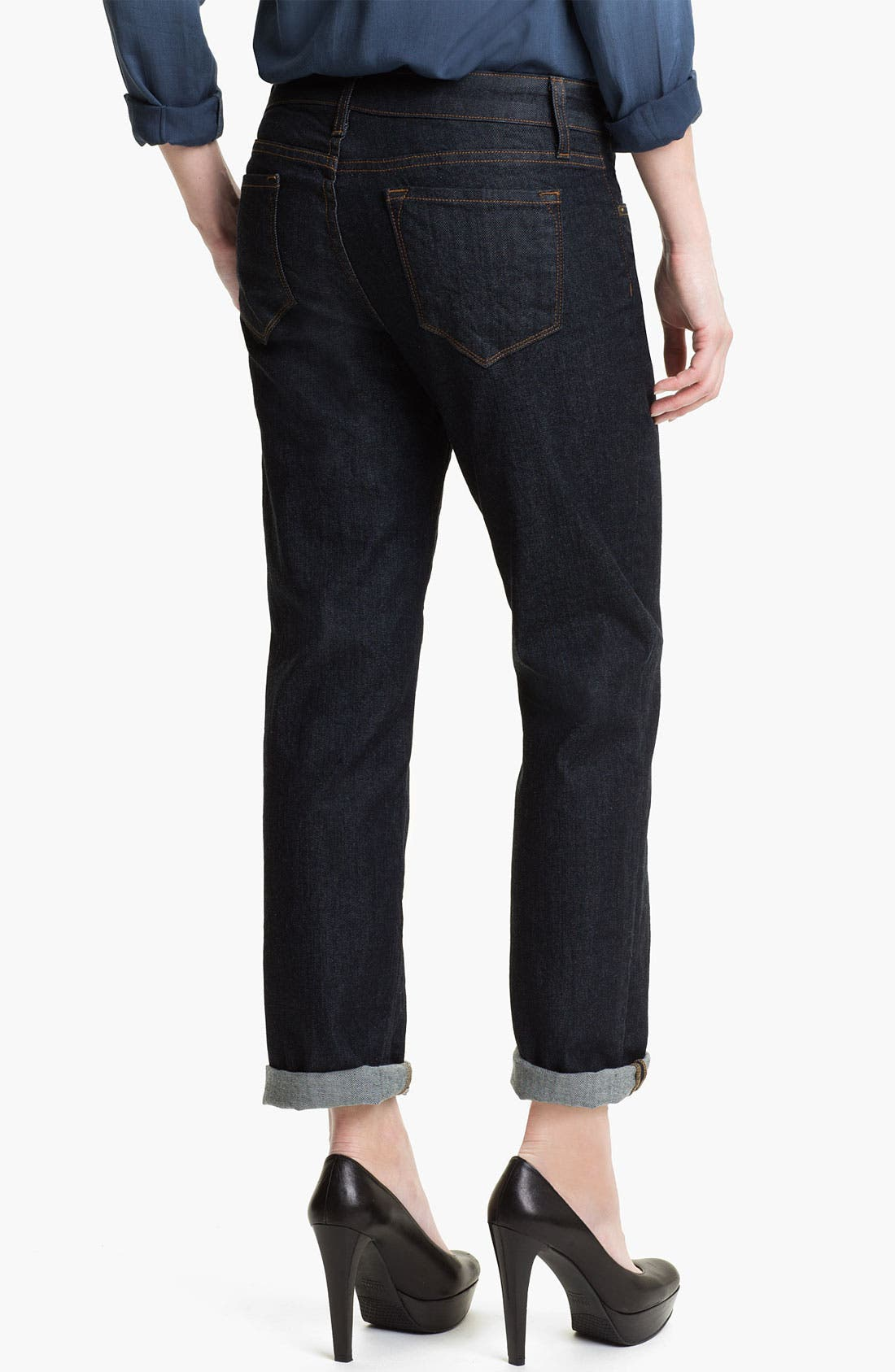 Alternate Image 2  - Blue Essence Boyfriend Jeans (Dark Canadian) (Nordstrom Exclusive)