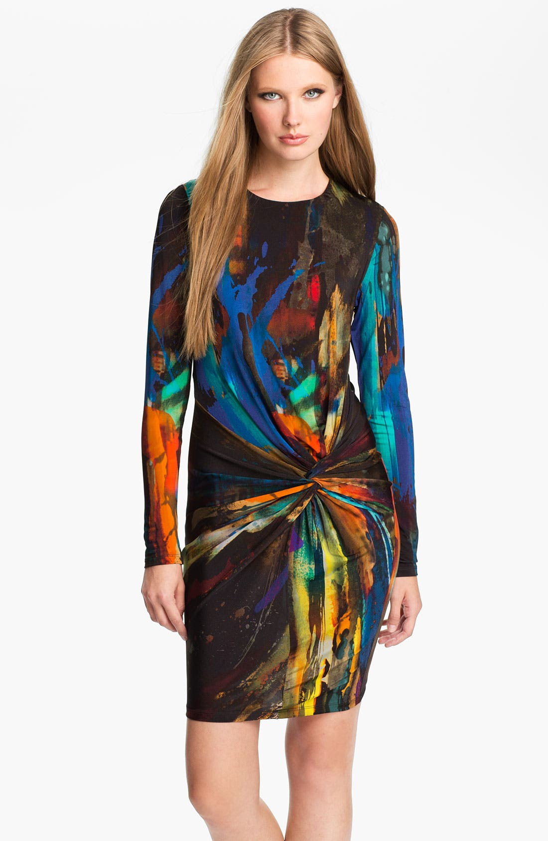 Main Image - Ted Baker London 'Pennii' Print Jersey Sheath Dress