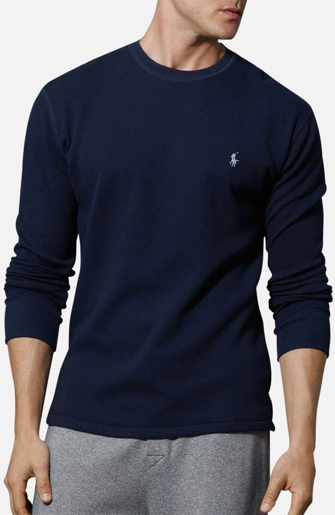 Alternate Image 1 Selected - Polo Ralph Lauren Thermal Crewneck Lounge Shirt