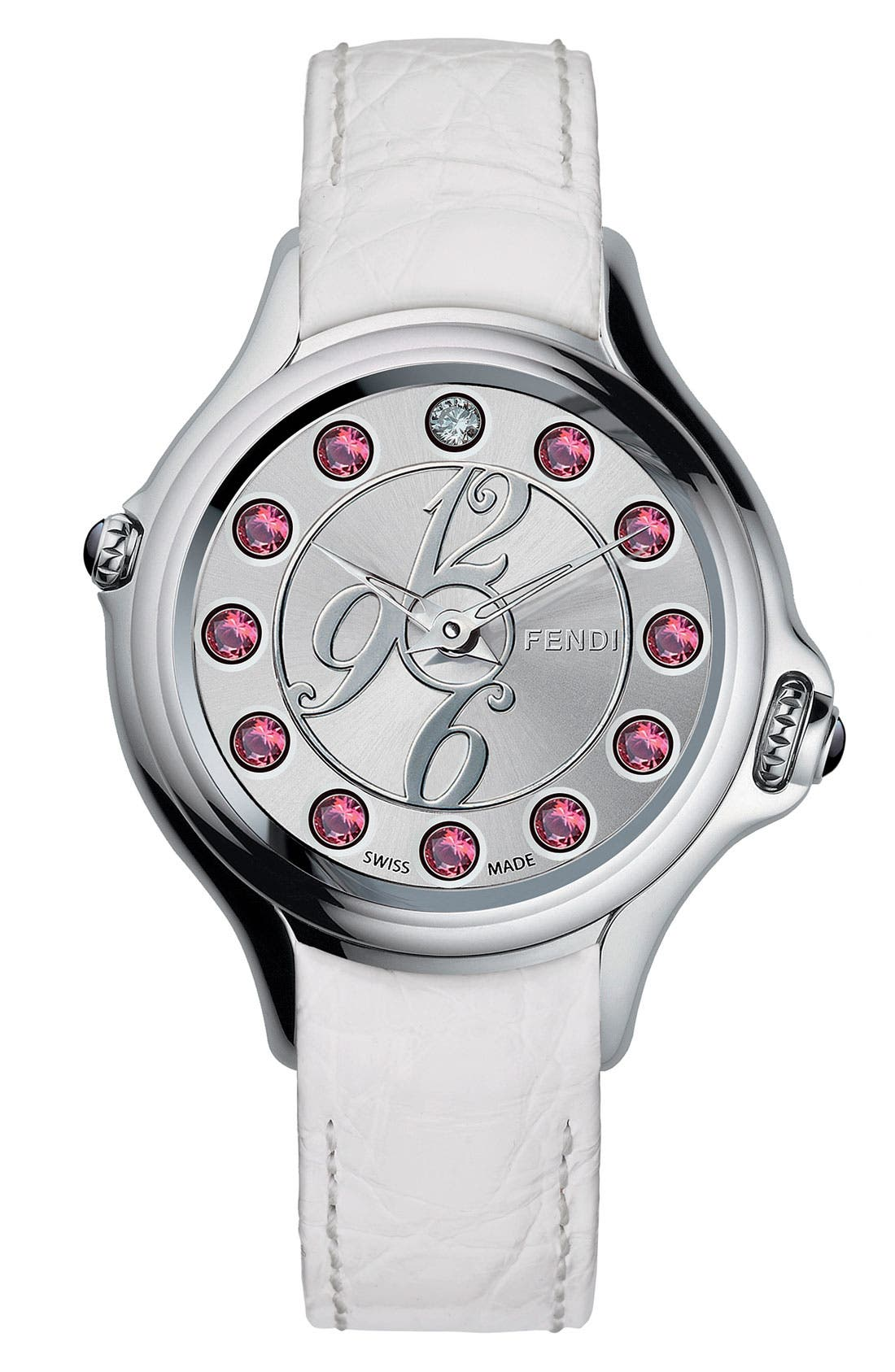 Alternate Image 3  - Fendi 'Crazy Carats' Teju Lizardskin Strap Watch, 38mm
