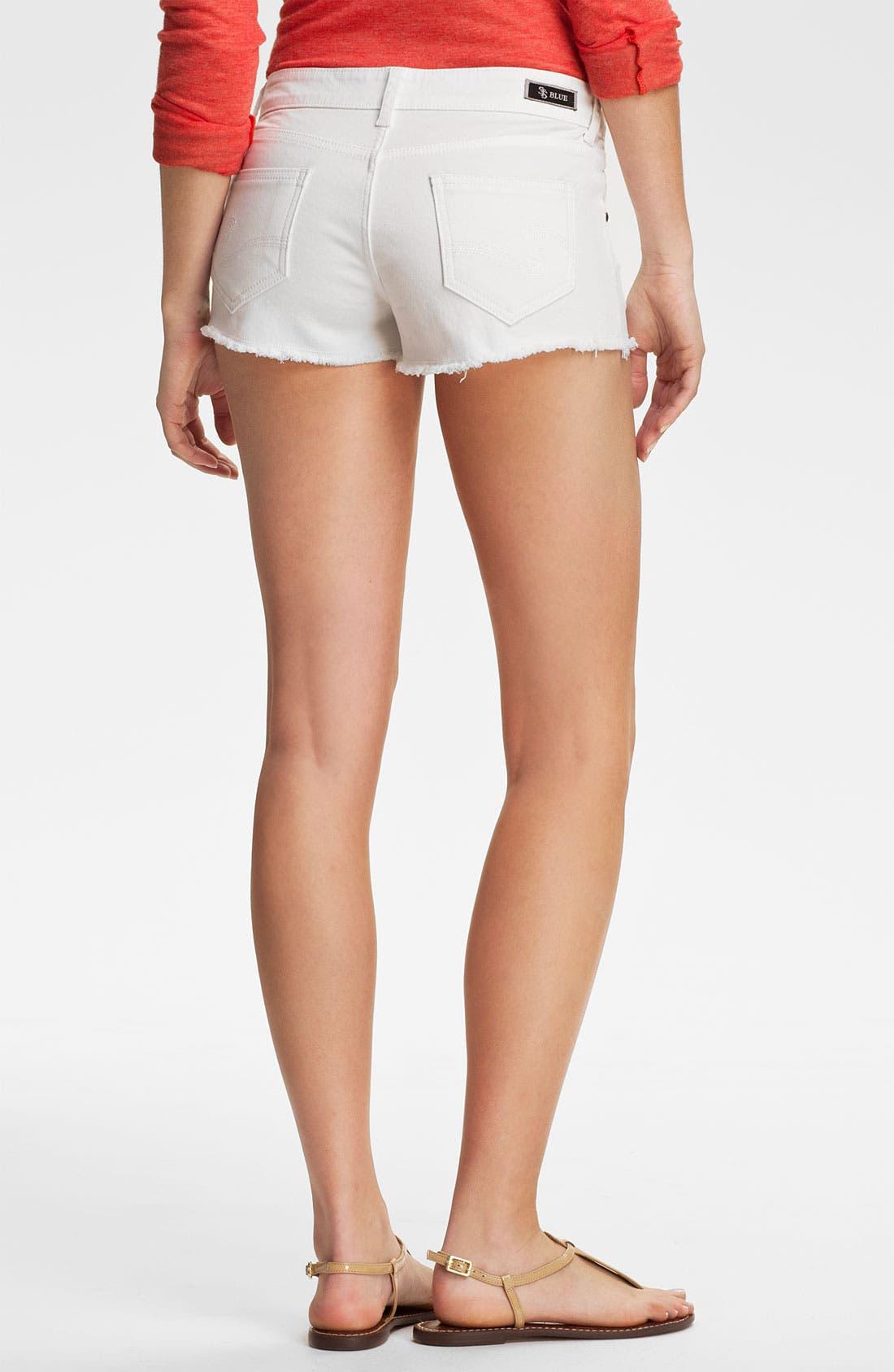 Alternate Image 2  - STS Blue Cutoff Color Denim Shorts (White) (Juniors)
