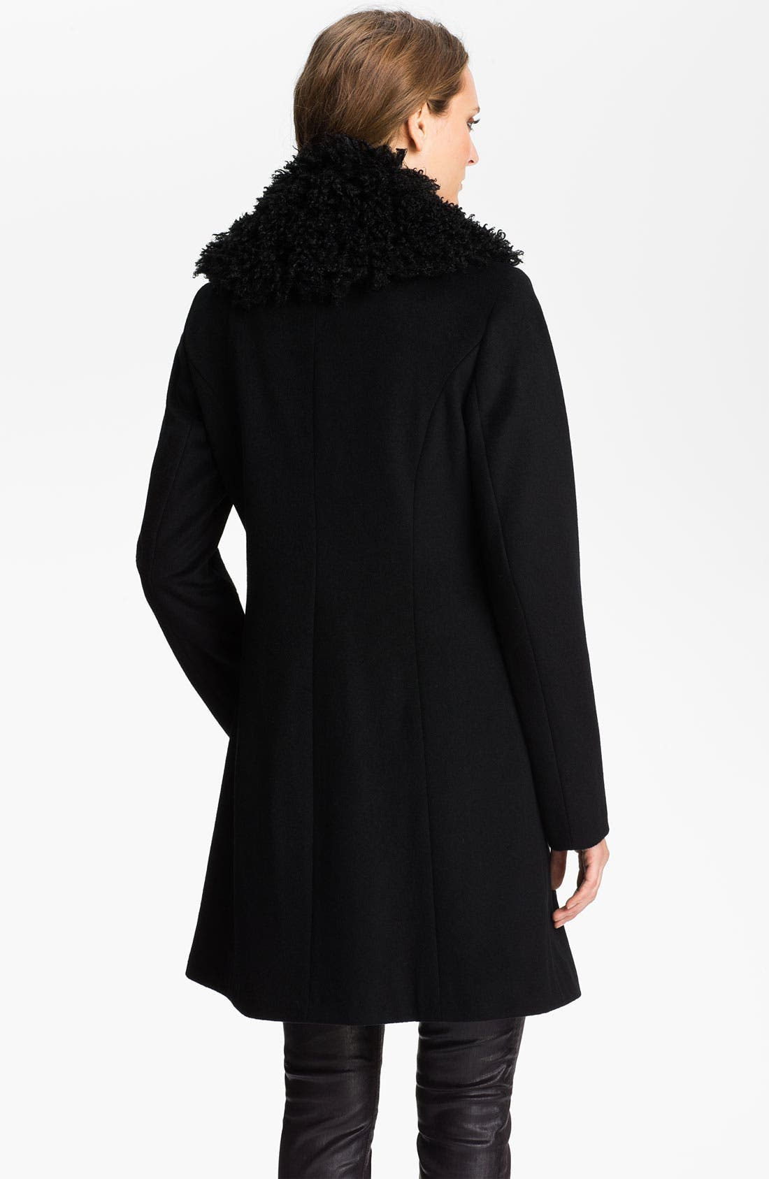 Alternate Image 2  - Laundry by Shelli Segal Faux Fur Collar Coat