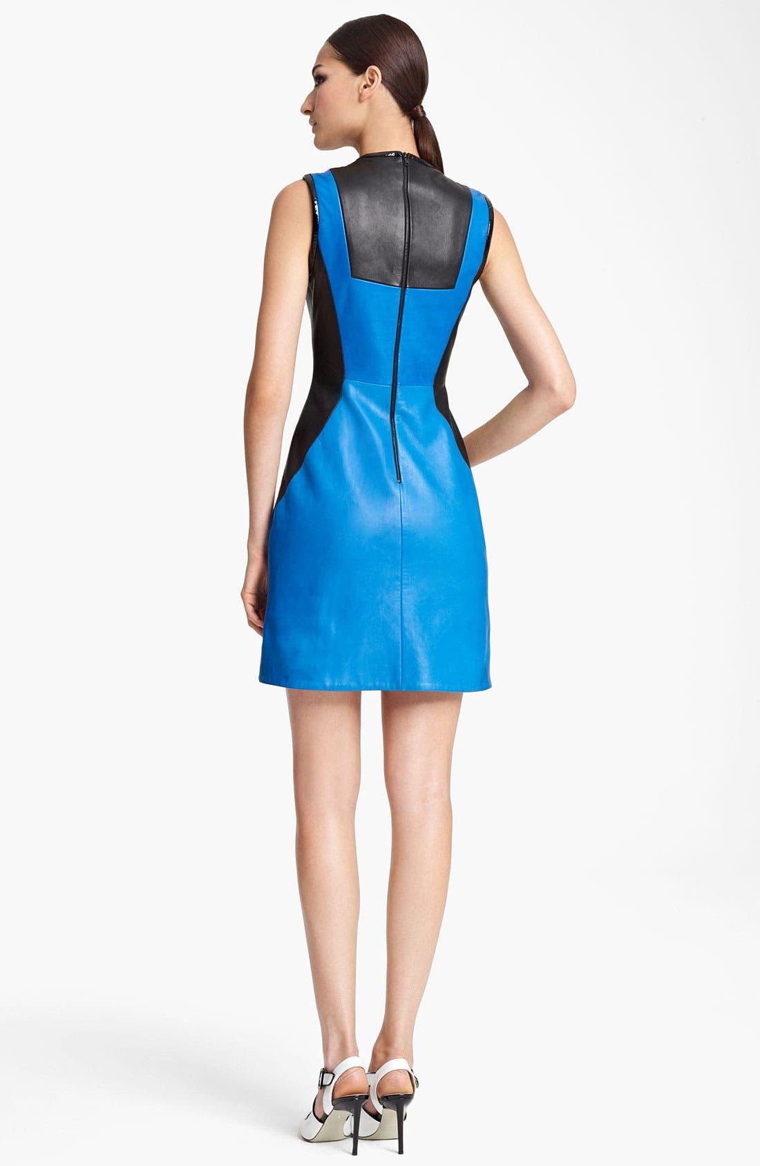 Alternate Image 2  - Jason Wu Paneled Leather Sheath Dress