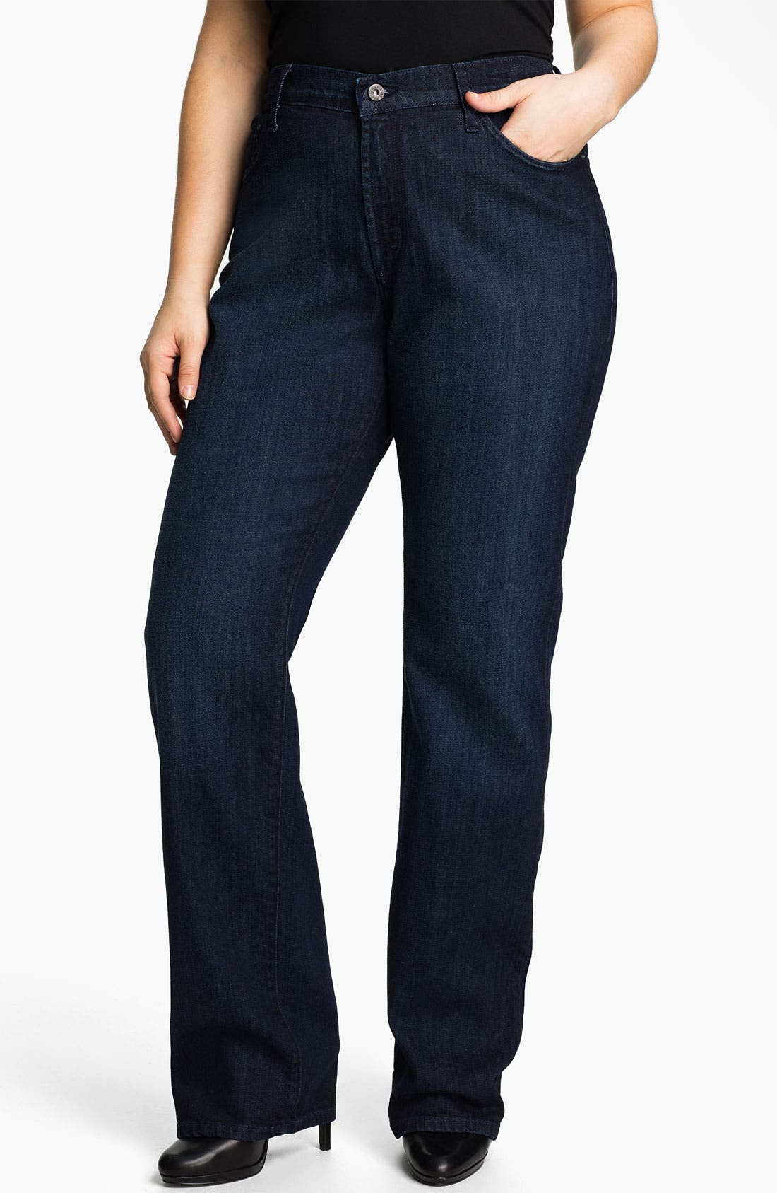 Alternate Image 1 Selected - James Jeans High Rise Straight Leg Jeans (Plus)