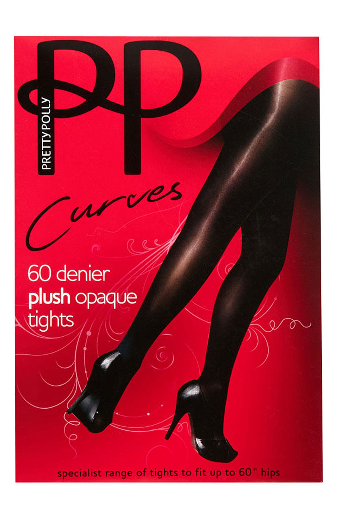 Alternate Image 2  - Pretty Polly 'Curves' 60 Denier Opaque Tights (Plus Size)