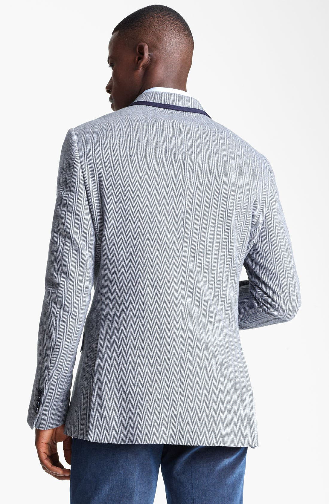 Alternate Image 2  - Etro Herringbone Cotton Blazer