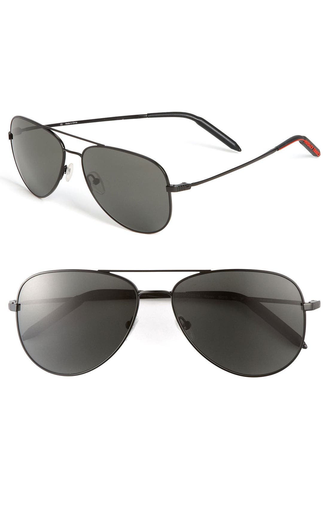 'Raynes' 59mm Aviator Sunglasses,                         Main,                         color, Black