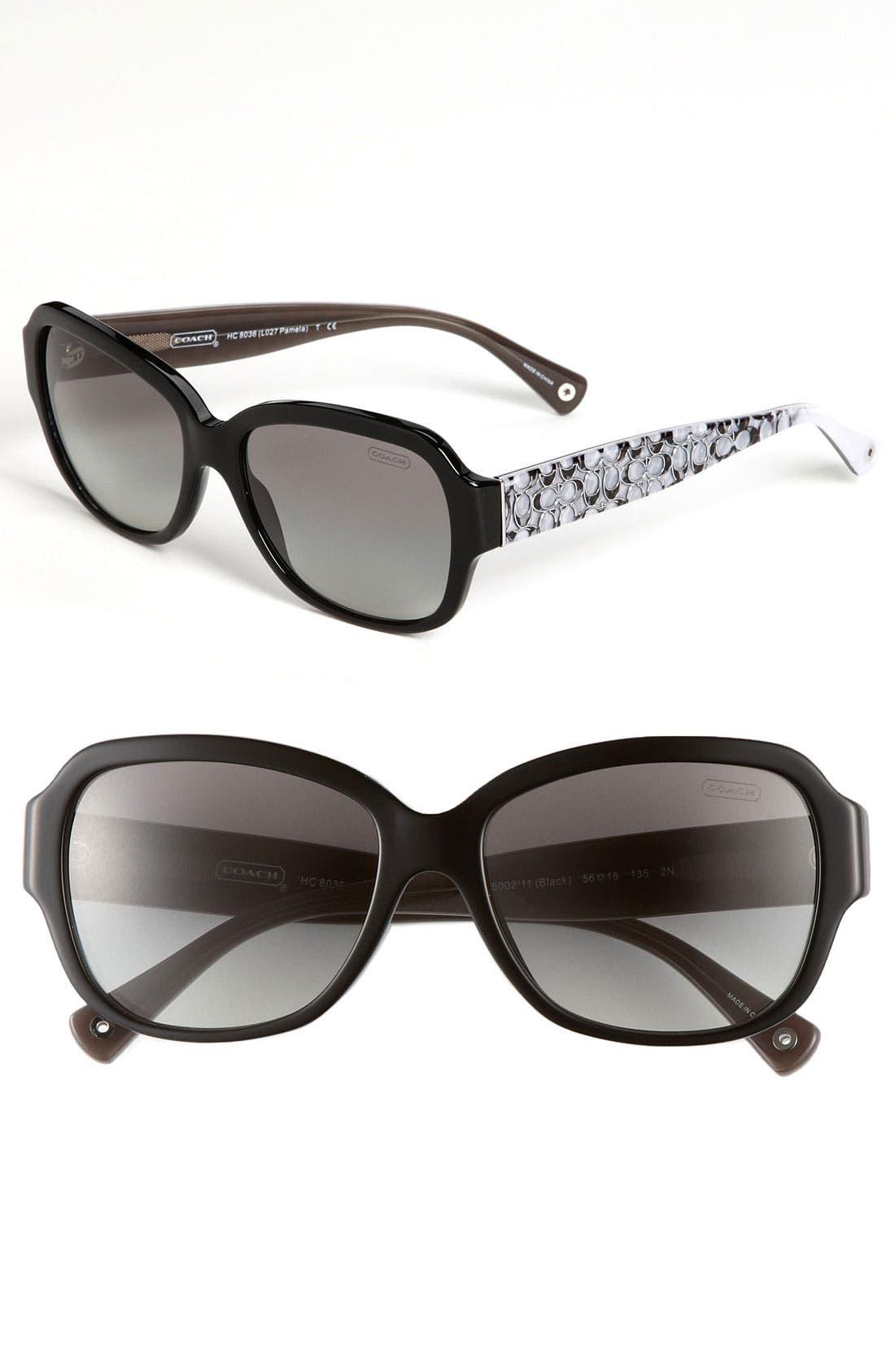Main Image - COACH 56mm Oversized Plastic Sunglasses