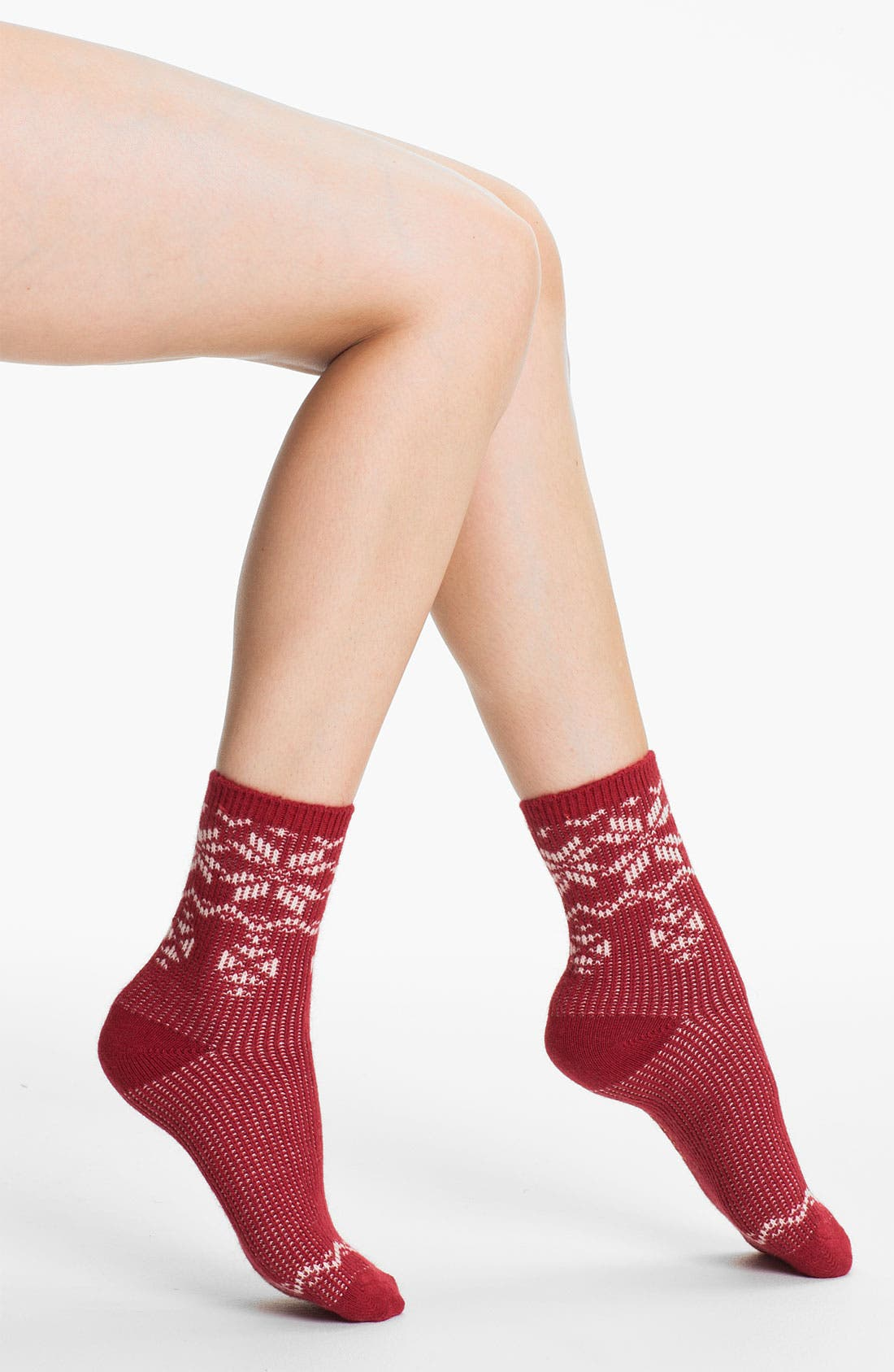 Alternate Image 1 Selected - Ralph Lauren Fair Isle Snowflake Crew Socks