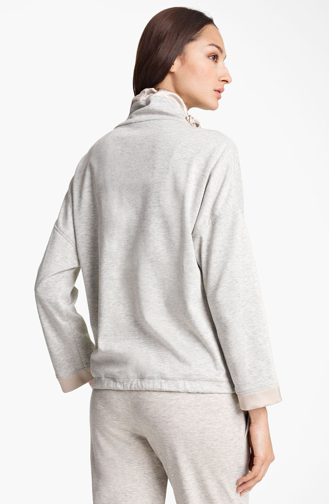 Alternate Image 2  - Fabiana Filippi Zip Front Heathered Jersey Jacket