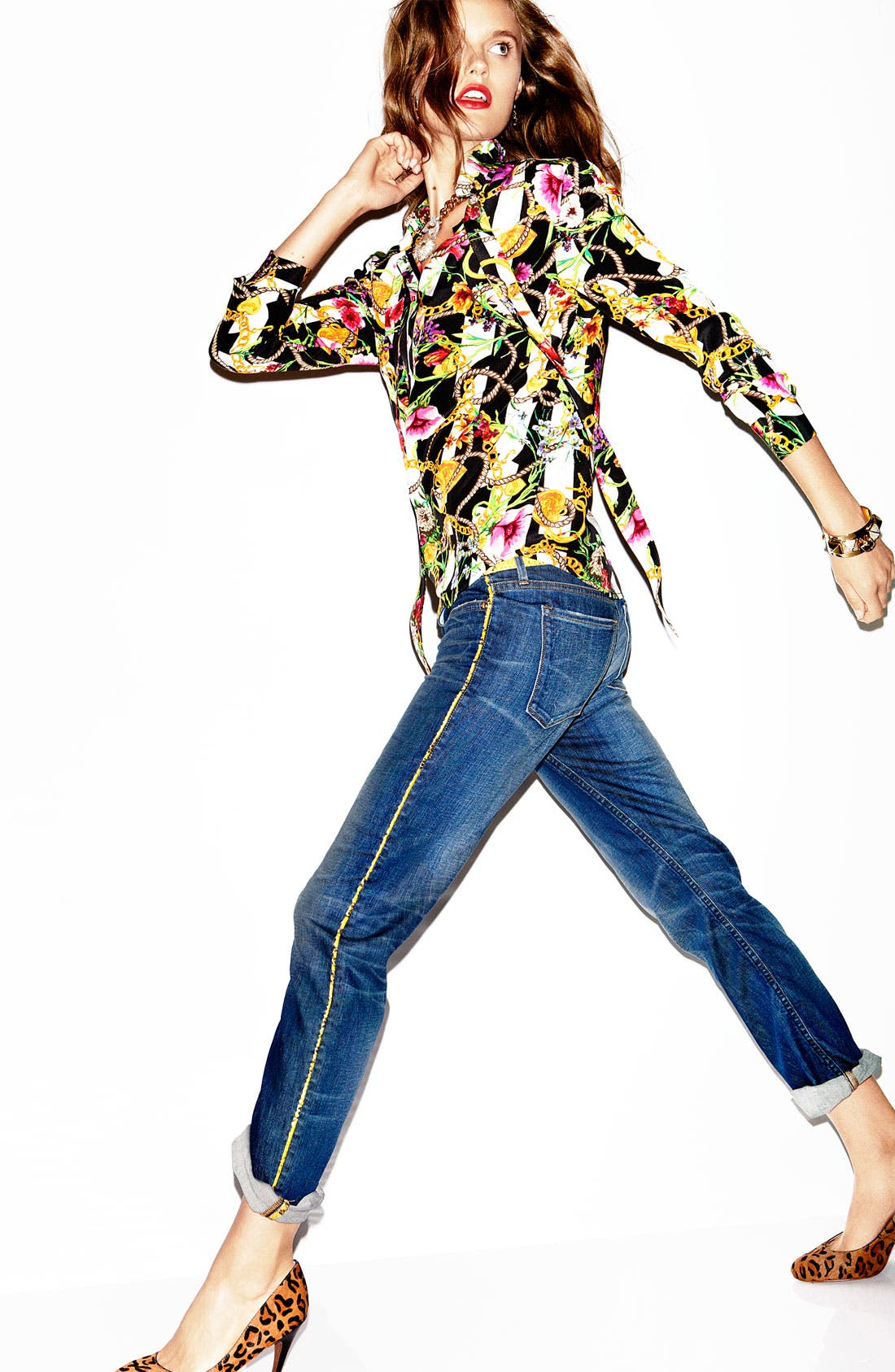 Alternate Image 4  - Juicy Couture Floral Print Shirt