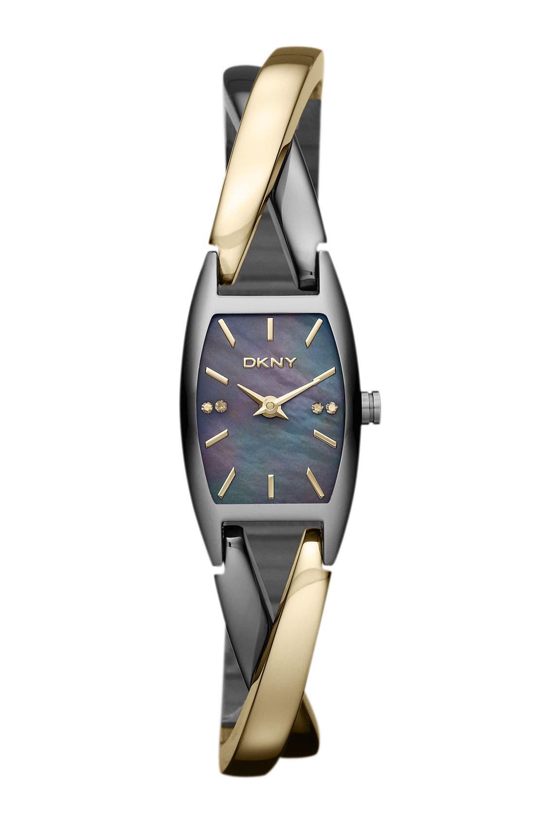 Alternate Image 1 Selected - DKNY 'Crosswalk' Bangle Watch, 18mm x 30mm