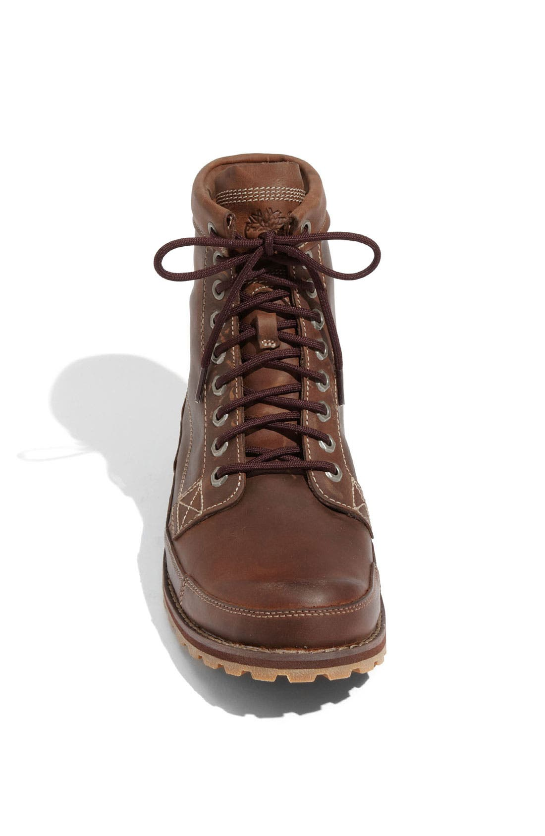 Earthkeepers<sup>®</sup> Lace-Up Boot,                             Alternate thumbnail 3, color,                             Medium Brown Leather
