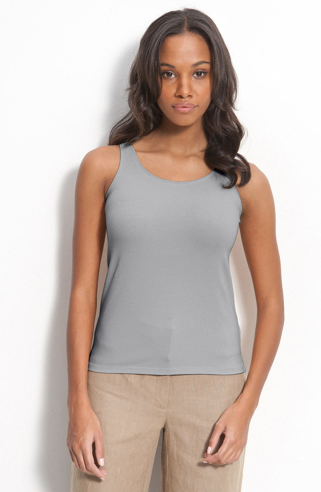 Alternate Image 1 Selected - Eileen Fisher Organic Cotton Tank (Regular & Petite)